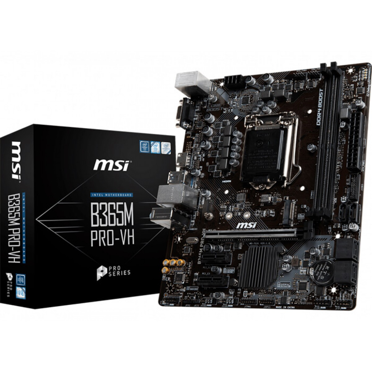 Placa Mãe MSI B365M PRO-VH, Chipset B365, LGA 1151, mATX, DDR4