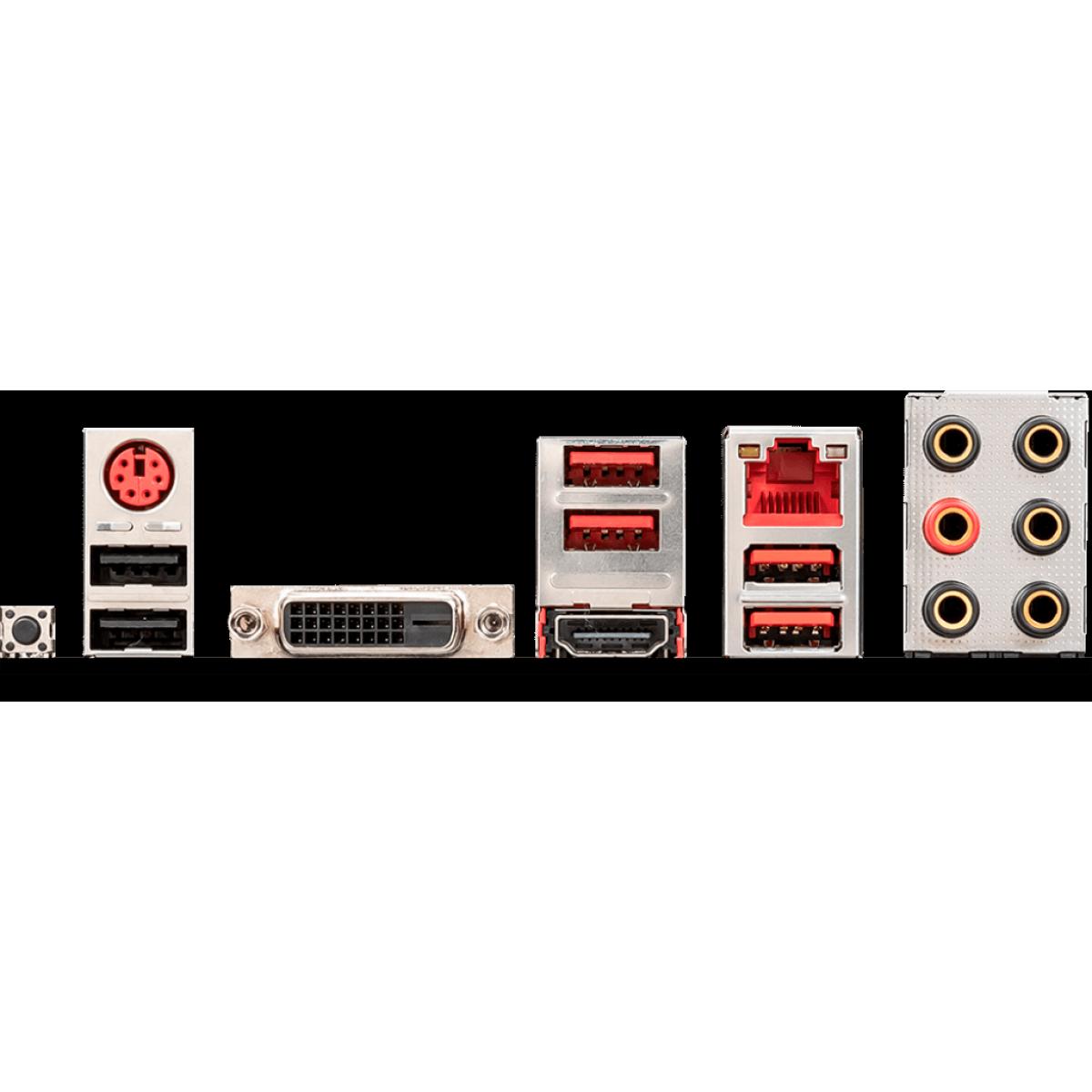 Placa Mãe MSI B450 Gaming Plus MAX, Chipset B450, AMD AM4 RYZEN, ATX, DDR4