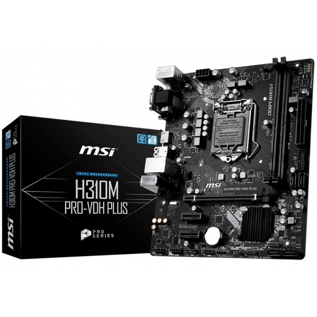 Placa Mãe MSI H310M PRO-VDH Plus, Chipset H310, Intel LGA 1151, mATX, DDR4