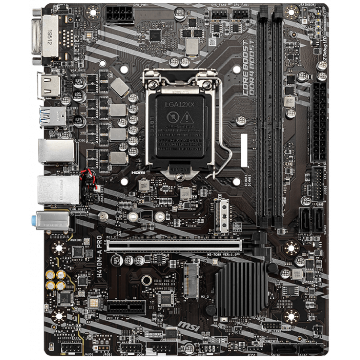 Placa Mãe MSI, H410M-A PRO, Chipset H410, Intel LGA 1200, mATX, DDR4