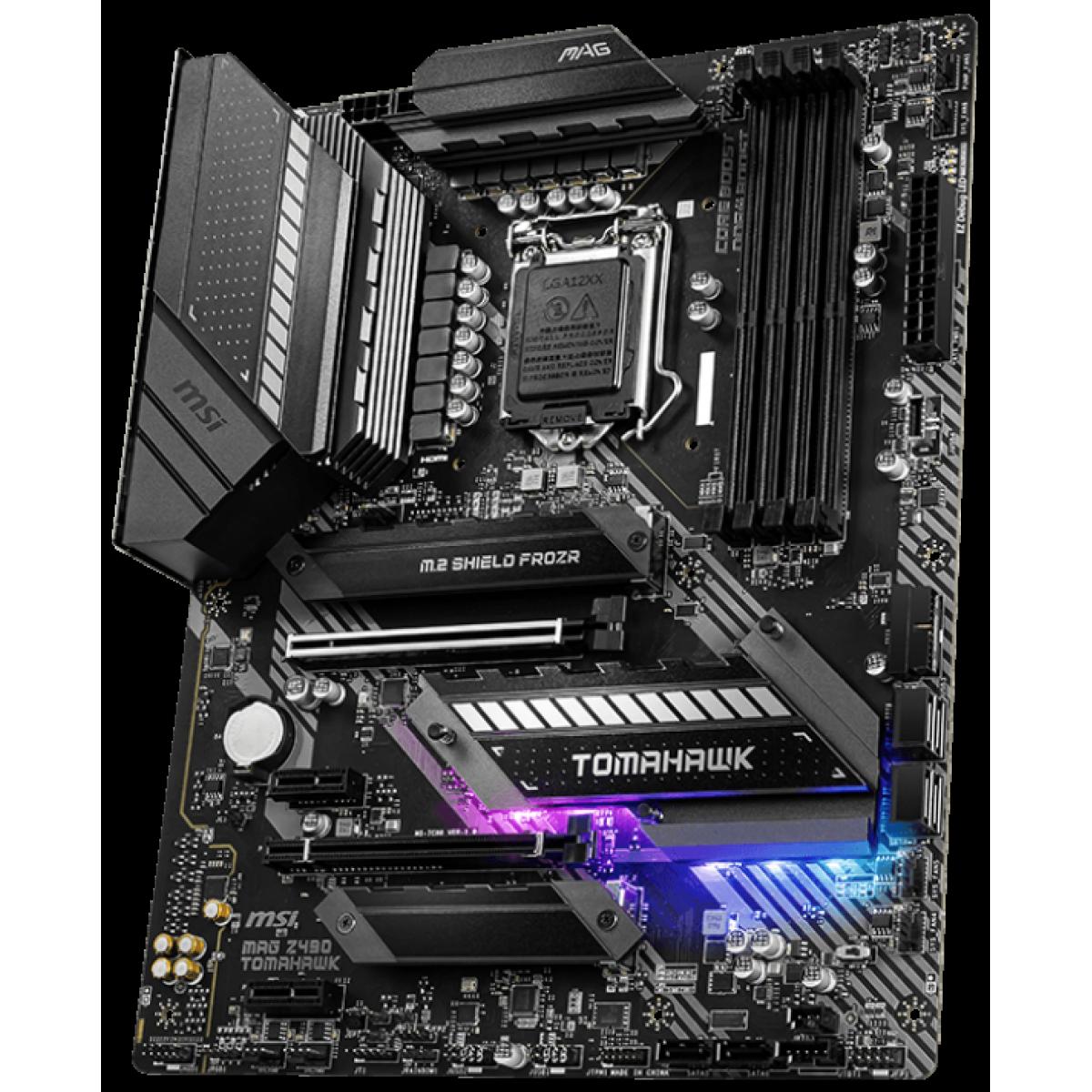 Placa Mãe MSI, Mag Z490 Tomahawk, Chipset Z490, Intel LGA1200, ATX, DDR4