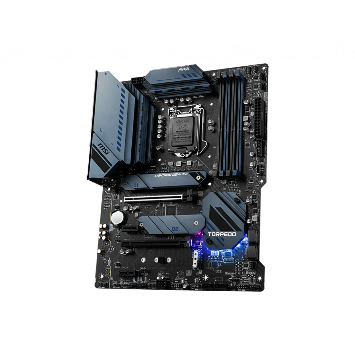 Placa Mãe MSI MAG Z590 TORPEDO, Chipset Intel Z590, Socket 1200, ATX, DDR4
