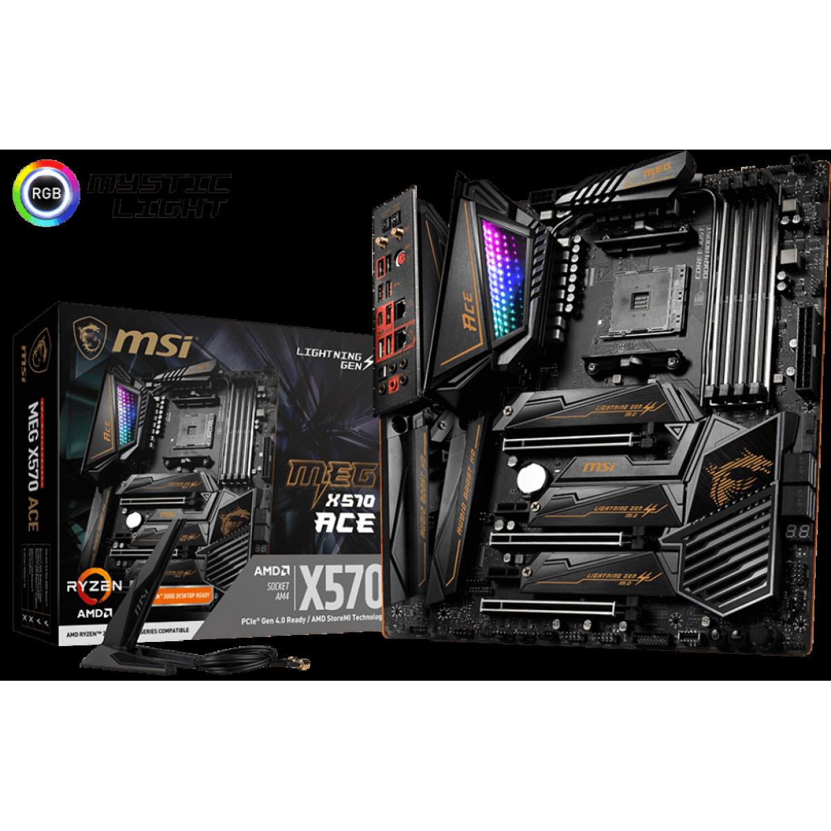 Placa Mãe MSI MEG X570 ACE, Chipset X570, AMD AM4, ATX, DDR4