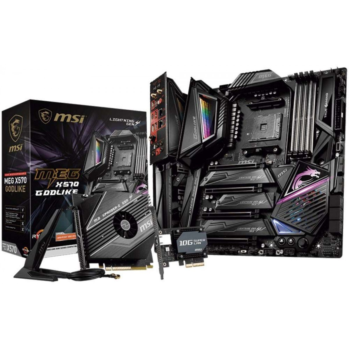 Placa Mãe MSI MEG X570 Godlike, Chipset X570, AMD AM4, E-ATX, DDR4