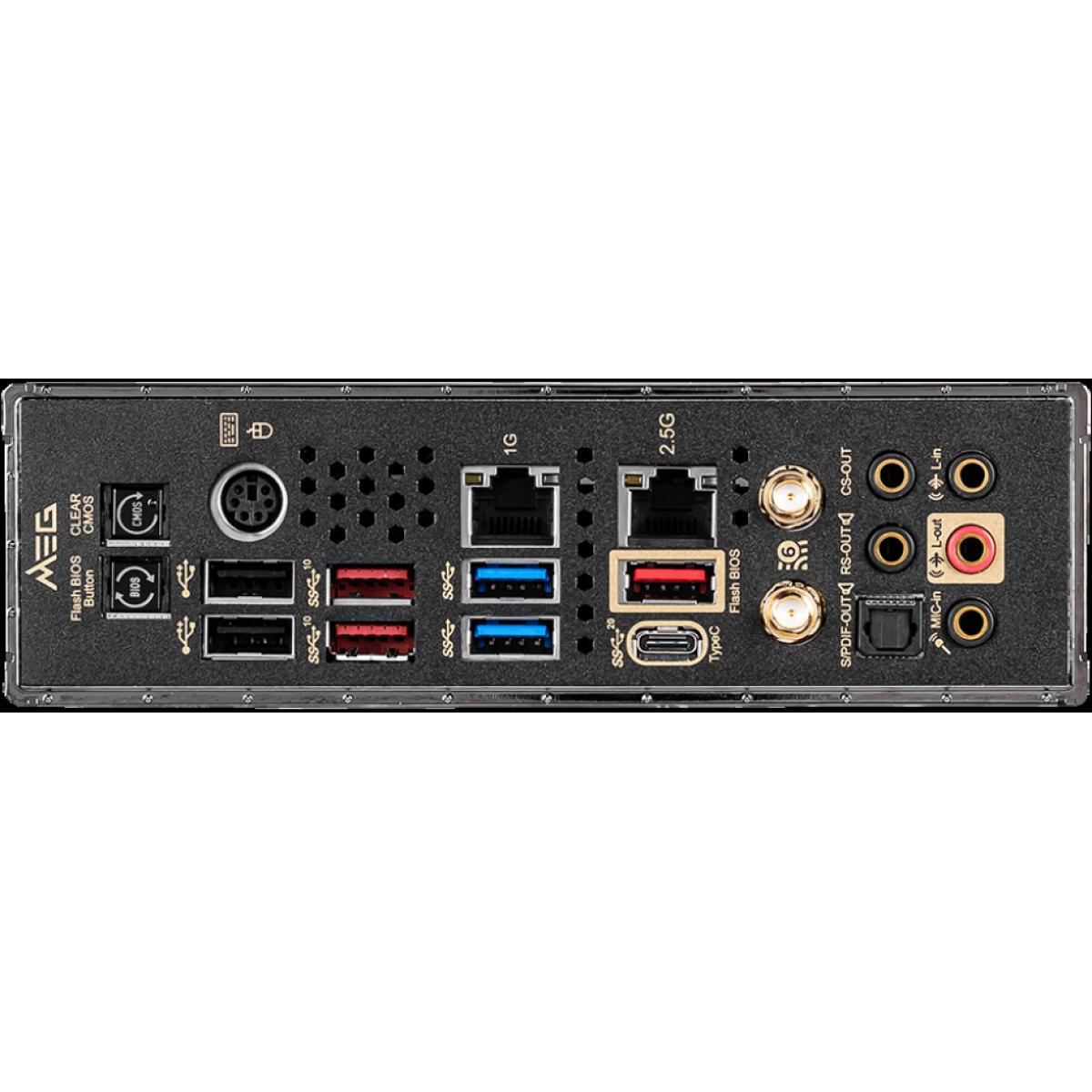 Placa Mãe MSI Meg Z490 Ace, Chipset Z490, Intel LGA 1200, ATX, DDR4