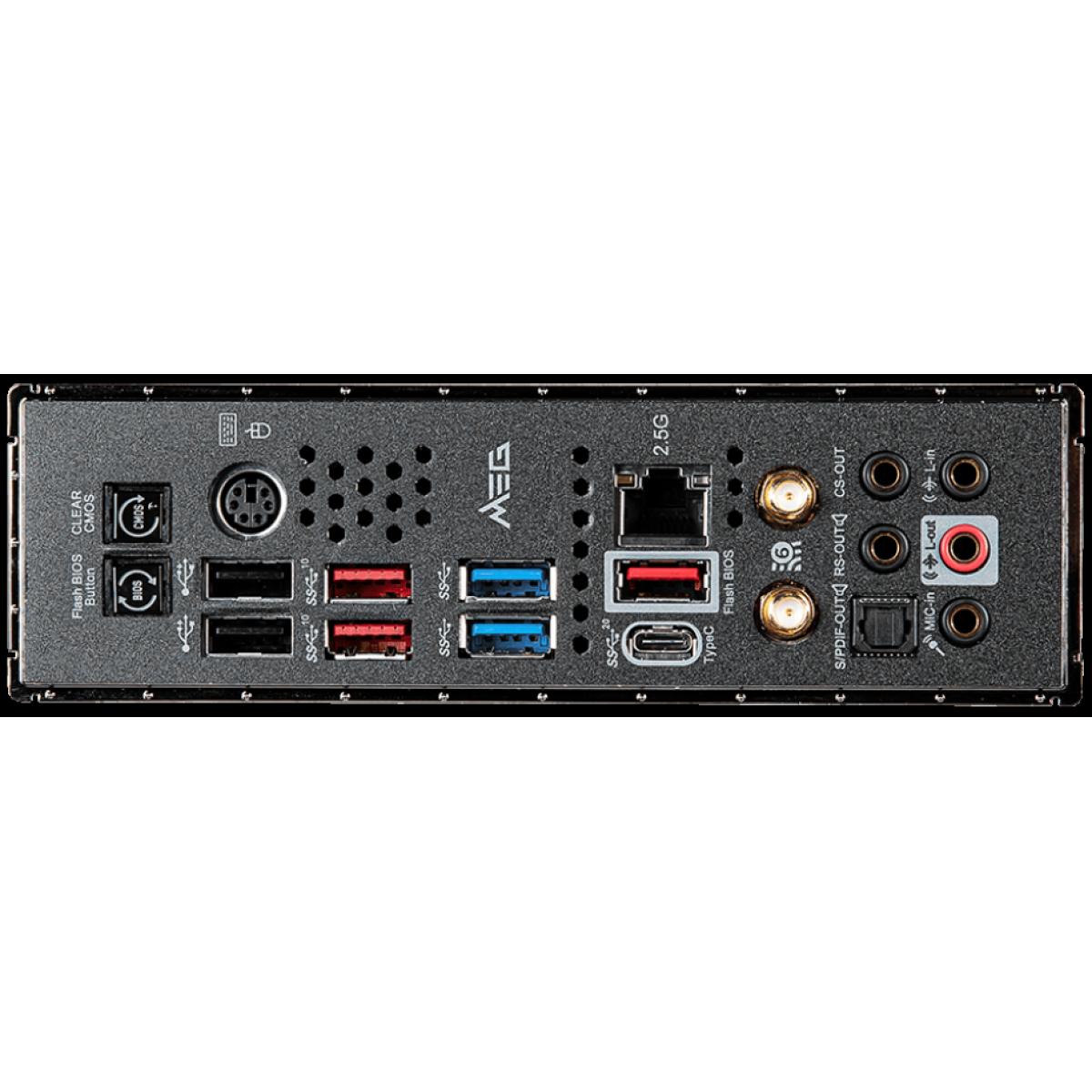 Placa Mãe MSI, MEG Z490 Unify, Chipset Z490, Intel LGA1200, ATX, DDR4