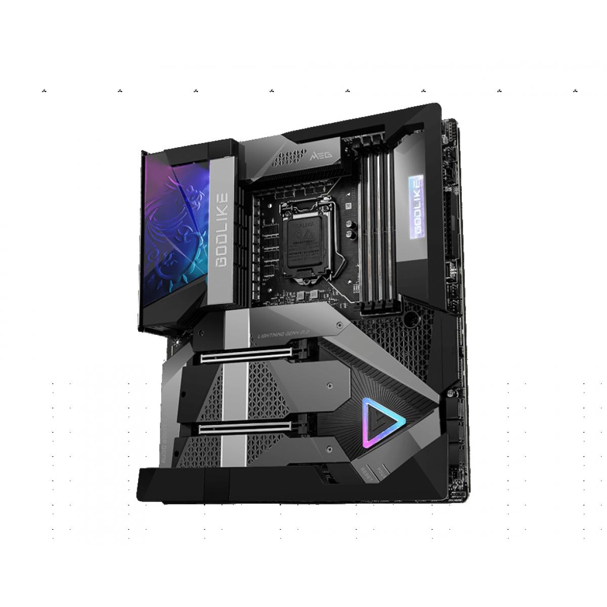 Placa Mãe MSI MEG Z590 GODLIKE, Chipset Intel Z590, Socket LGA 1200, E-ATX, DDR4