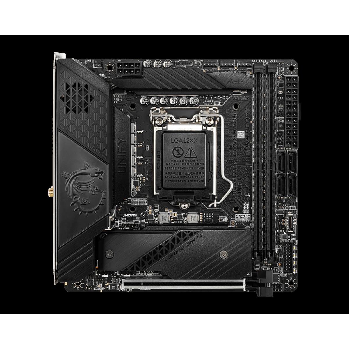 Placa Mãe MSI MEG Z590I UNIFY, Intel Z590 Chipset, Socket 1200, Mini-ITX, DDR4