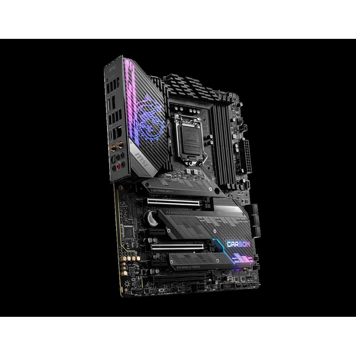 Placa Mãe MSI MPG Z590 GAMING CARBON WIFI, Intel Z590 Chipset, Socket 1200, ATX, DDR4