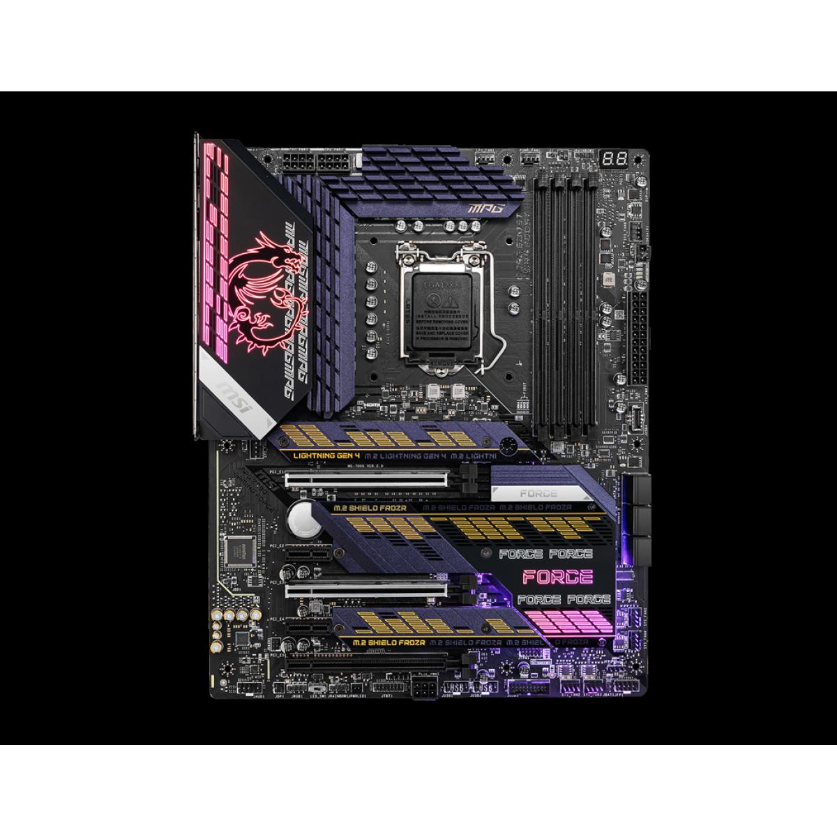 Placa Mãe MSI MPG Z590 GAMING FORCE, Chipset Intel Z590, Socket 1200, ATX, DDR4