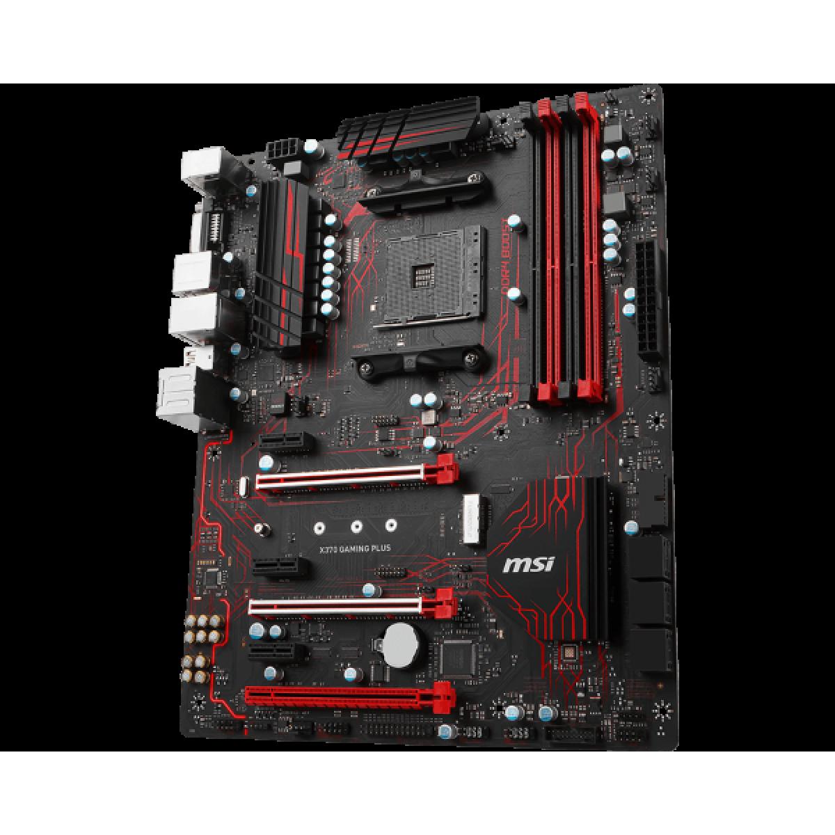 Placa Mãe MSI X370 GAMING PLUS, Chipset X370, AMD AM4, ATX, DDR4