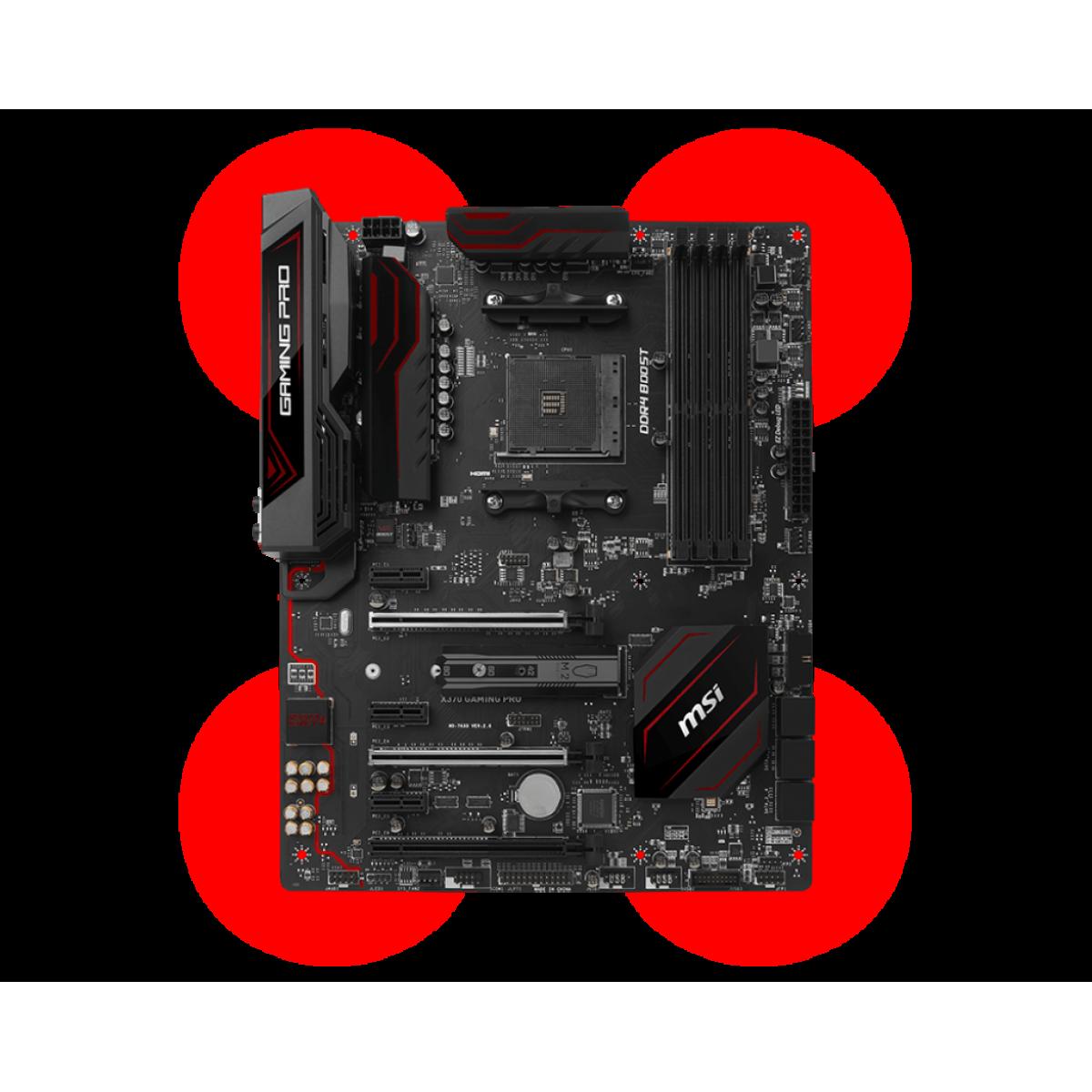 Placa Mãe MSI X370 GAMING PRO, Chipset X370, AMD AM4, ATX, DDR4
