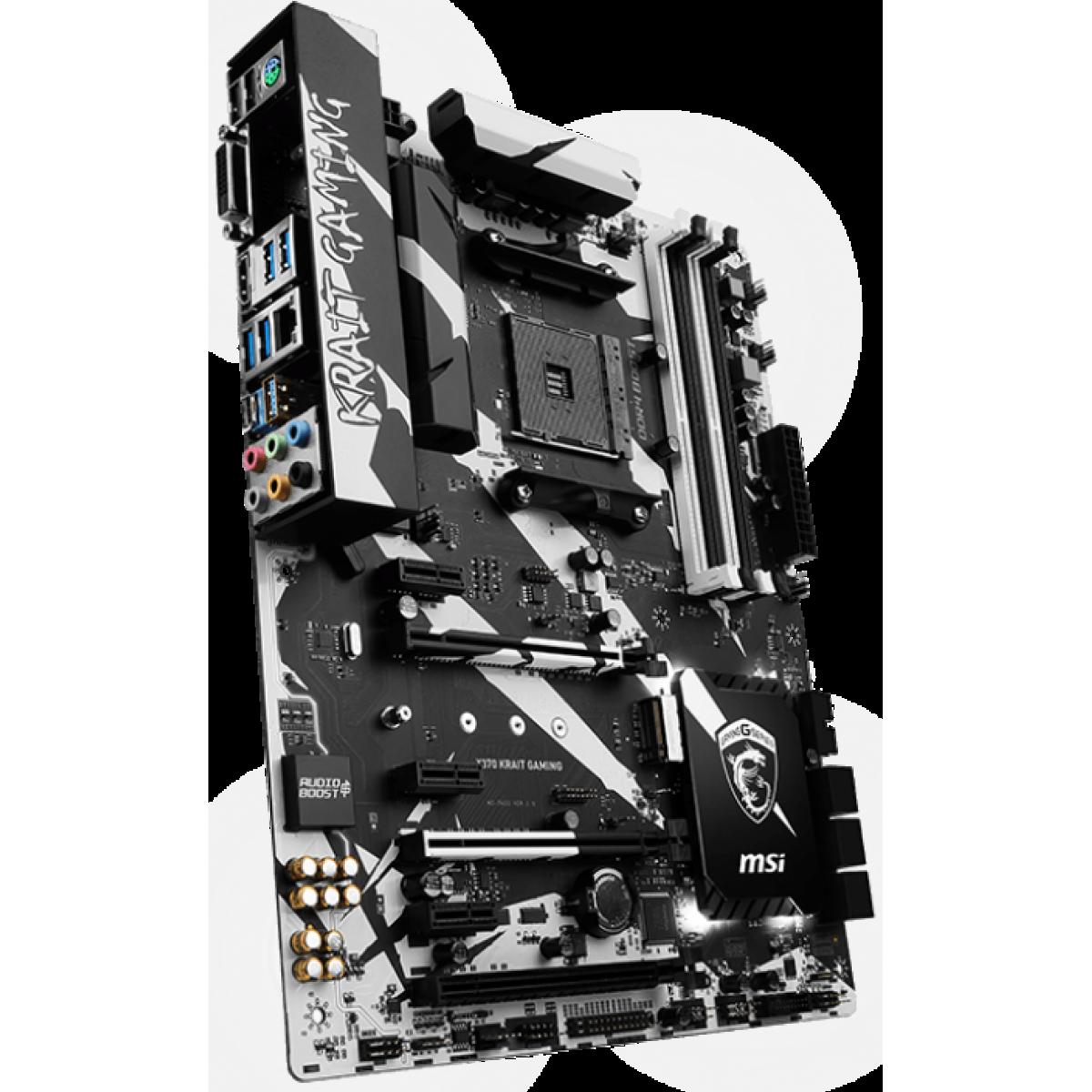 Placa Mãe MSI X370 Krait Gaming, Chipset X370, AMD AM4, ATX, DDR4