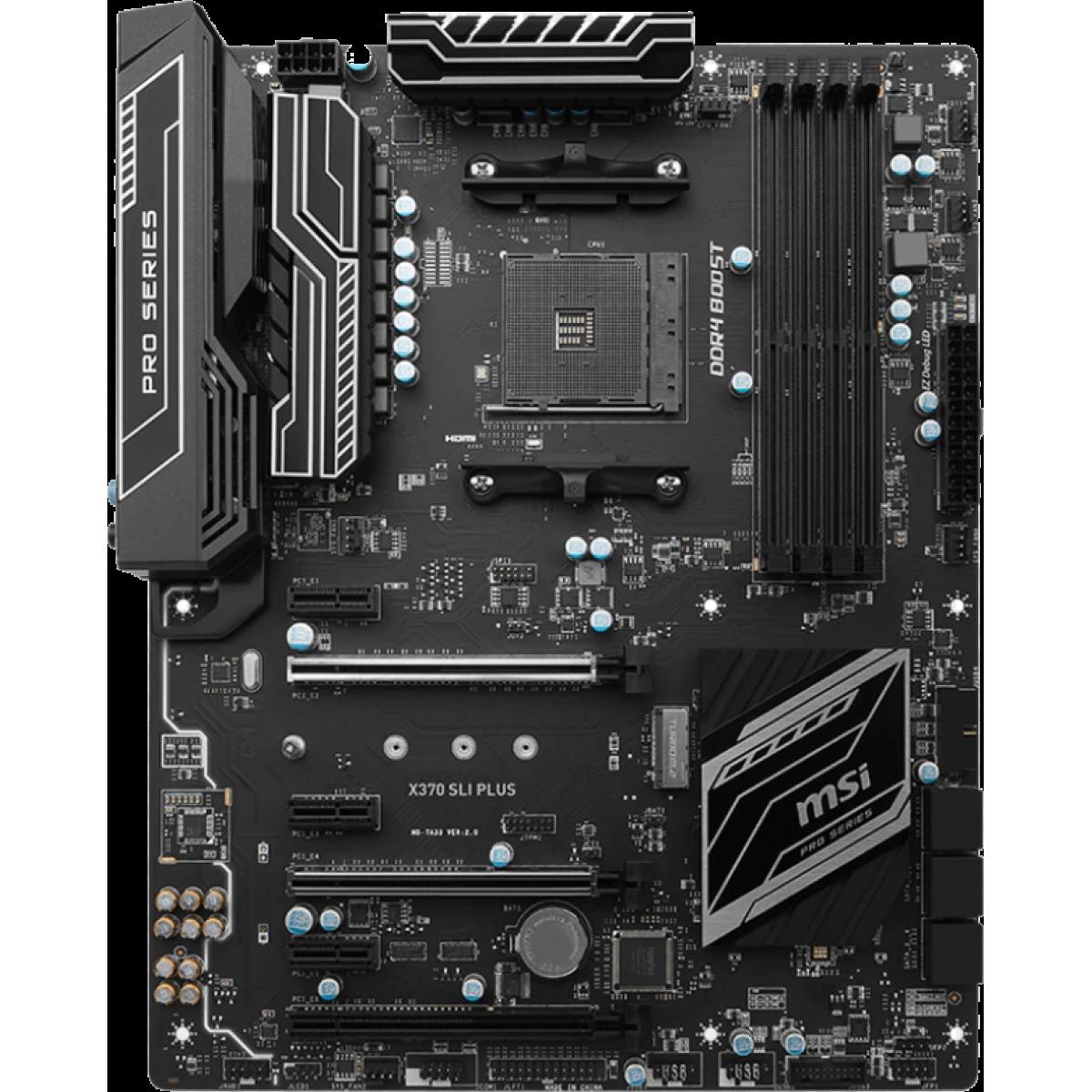 Placa Mãe MSI X370 SLI Plus, Chipset X370, AMD AM4, ATX, DDR4