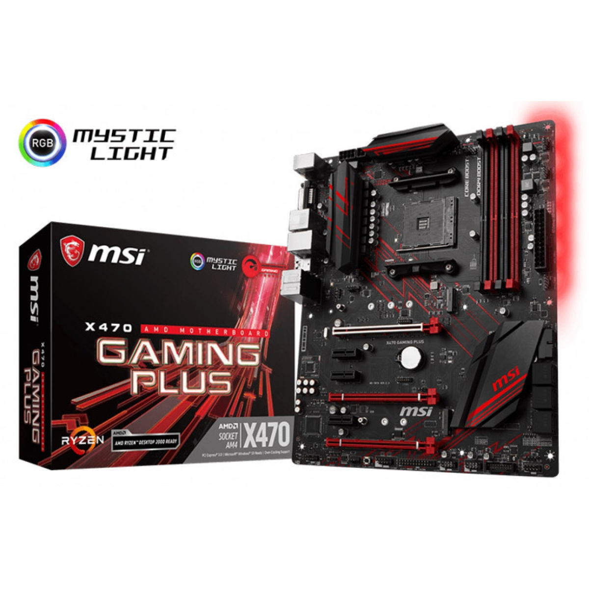 Placa Mãe MSI X470 Gaming Plus, Chipset X470, AMD AM4, ATX, DDR4