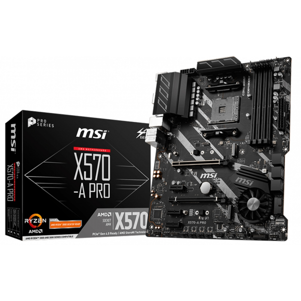 Placa Mãe MSI X570-A PRO, Chipset X570, AMD AM4, ATX, DDR4