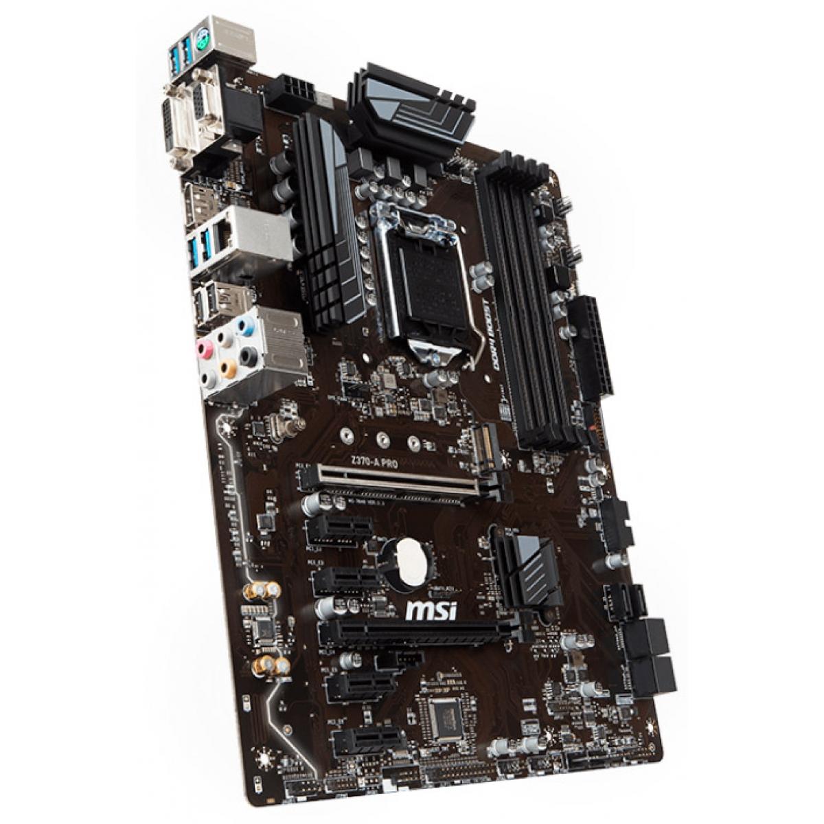 Placa Mãe MSI Z370-A PRO, Chipset Z370, Intel LGA 1151, ATX, DDR4