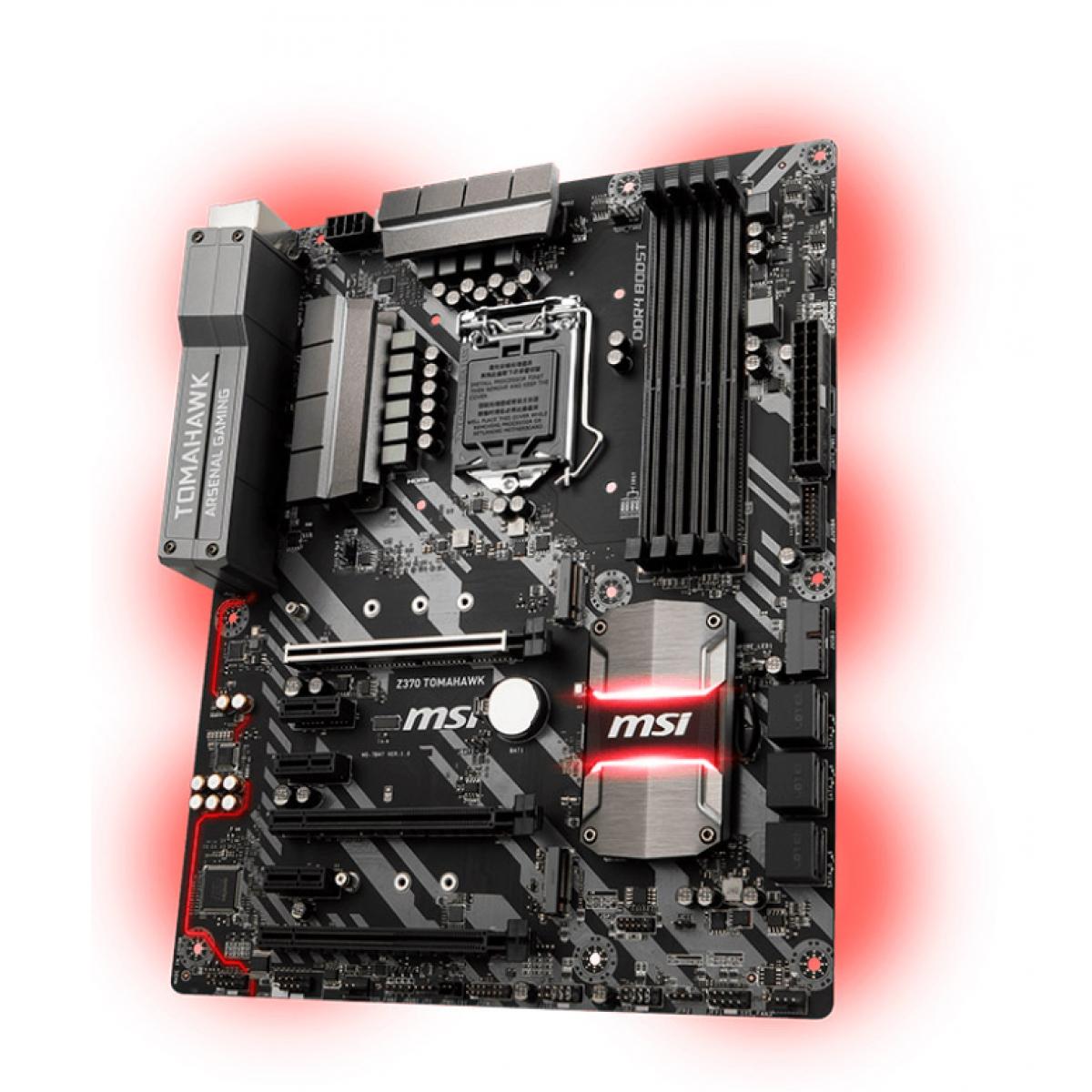 Placa Mãe MSI Z370 TOMAHAWK, Chipset Z370, Intel LGA 1151, ATX, DDR4