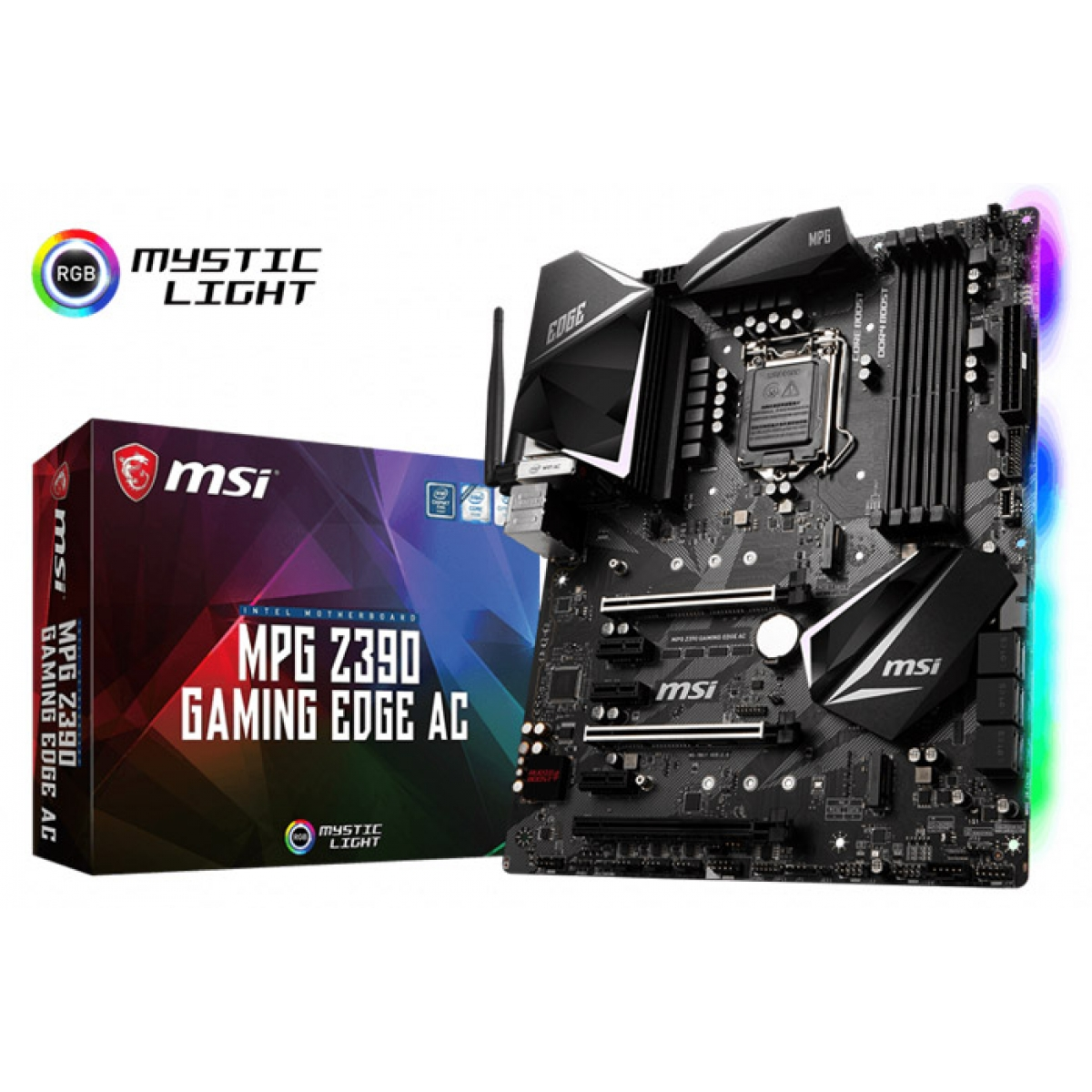 Placa Mãe MSI Z390 Mpg Gaming Edge Ac, Chipset Z390, Intel LGA 1151, ATX, DDR4