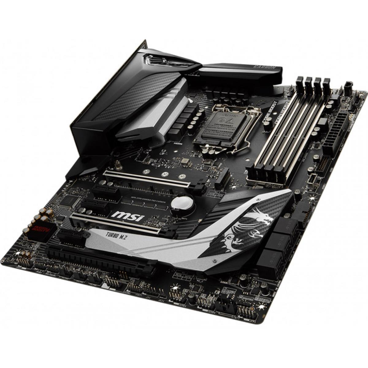 Placa Mãe MSI Z390 Mpg Gaming Pro Carbon, Chipset Z390, Intel LGA 1151, ATX, DDR4