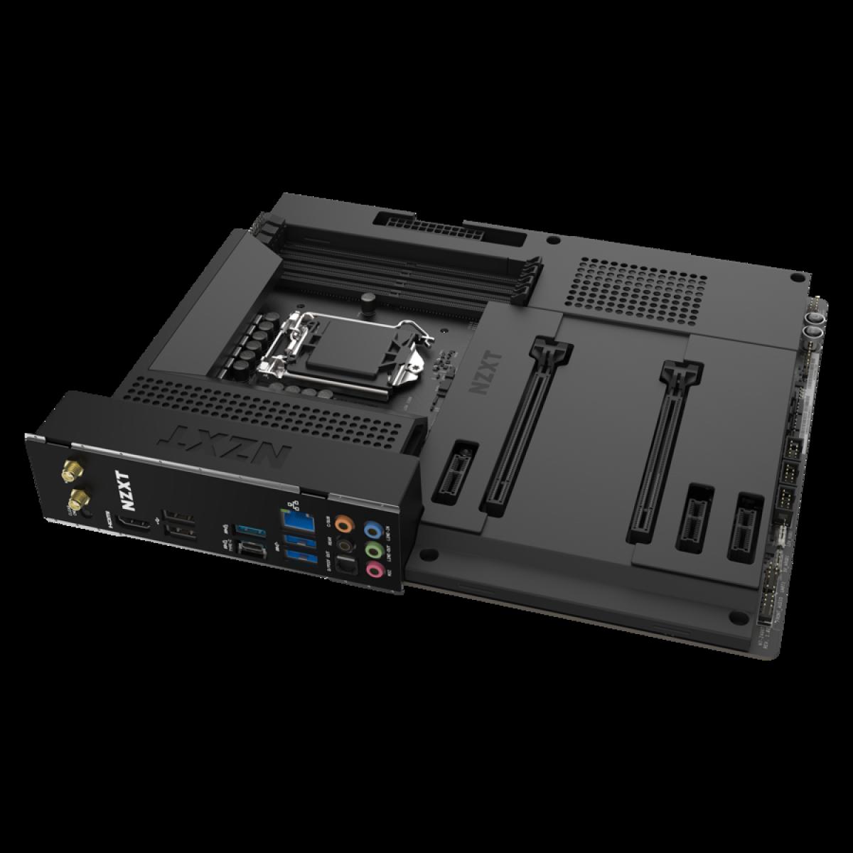Placa Mãe NZXT N7 Z490, Chipset Z490, Intel LGA 1200, ATX, DDR4, N7-Z49XT-B1