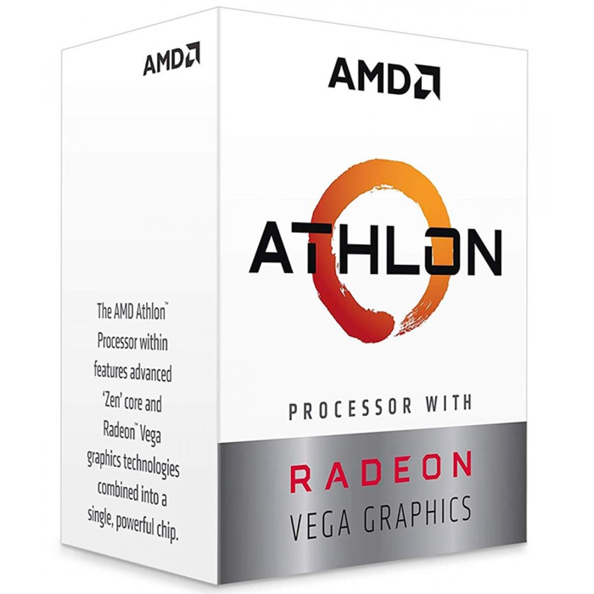 Processador AMD Athlon 240GE 3.5GHz, 2-Core 4-Thread, AM4, YD240GC6FBBOX
