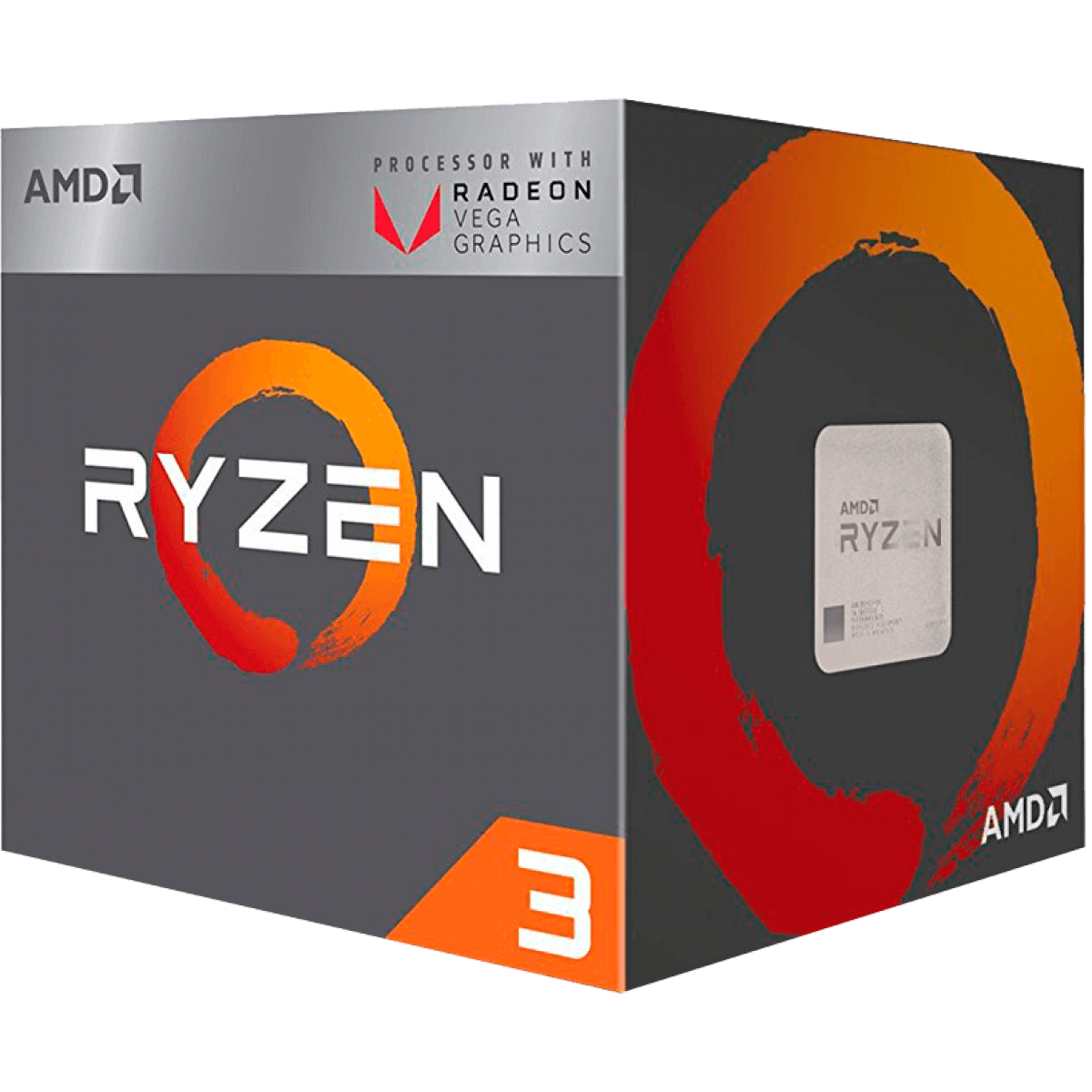 Processador AMD Ryzen 3 2200G 3.5GHz (3.7GHz Turbo), 4-Cores 4-Threads, Cooler Wraith Stealth, AM4, YD2200C5FBBOX