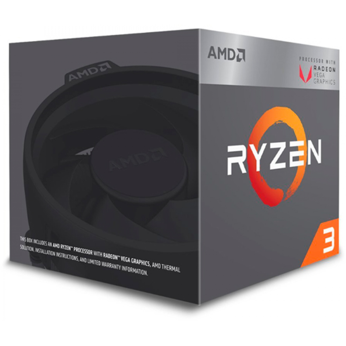 Processador AMD Ryzen 3 2200G 3.5GHz (3.7GHz Turbo), 4-Cores 4-Threads, AM4, Vídeo Integrado, Cooler Wraith Stealth, YD2200C5FBBOX