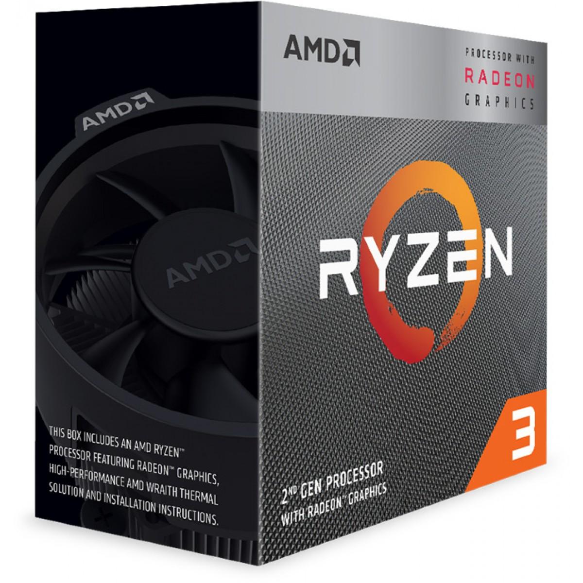 Processador AMD Ryzen 3 3200G 3.6GHz (4.0GHz Turbo), 4-Cores 4-Threads, Cooler Wraith Stealth, AM4 - Open Box