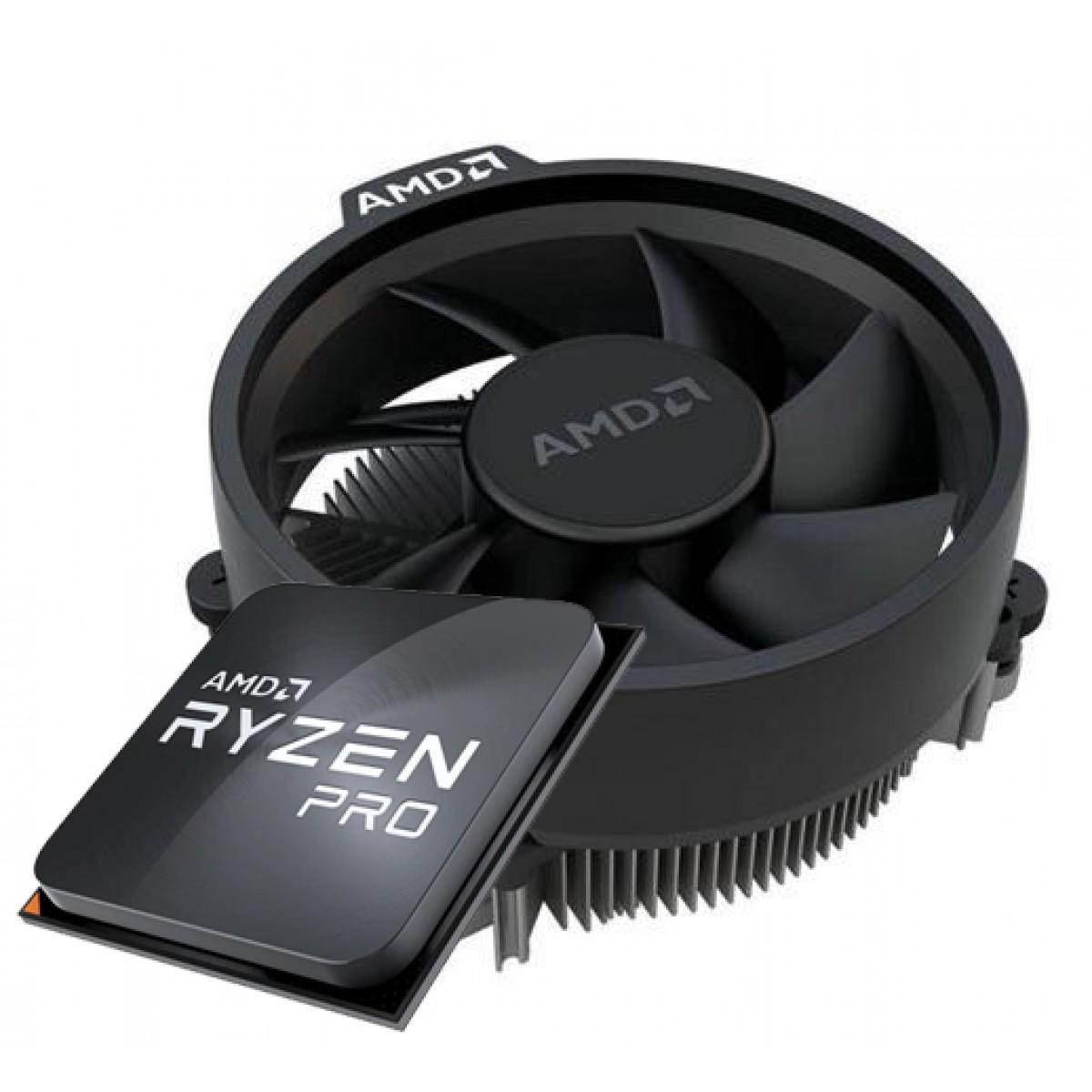 Processador AMD Ryzen 3 PRO 4350G 3.8GHz (4.0GHz Turbo), 4-Cores 8-Threads, C/ Video Integrado, AM4, + Cooler Wraith Stealth, 100-100000148MPK