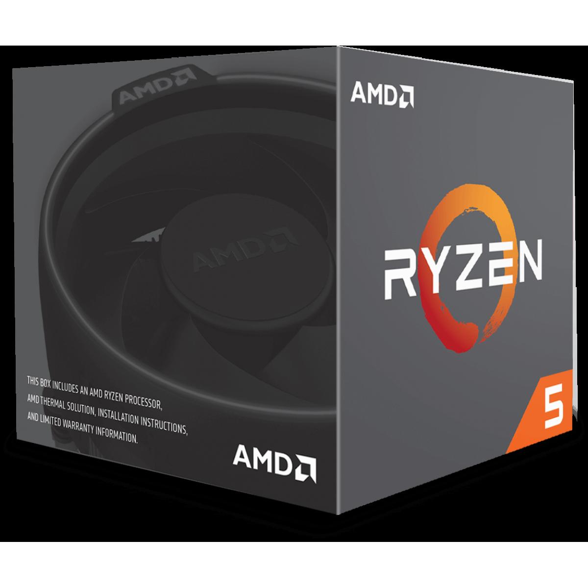 Processador AMD Ryzen 5 2600 3.4GHz (3.9GHz Turbo), 6-Cores 12-Threads, Cooler Wraith Stealth, AM4, YD2600BBAFBOX, S/ Video