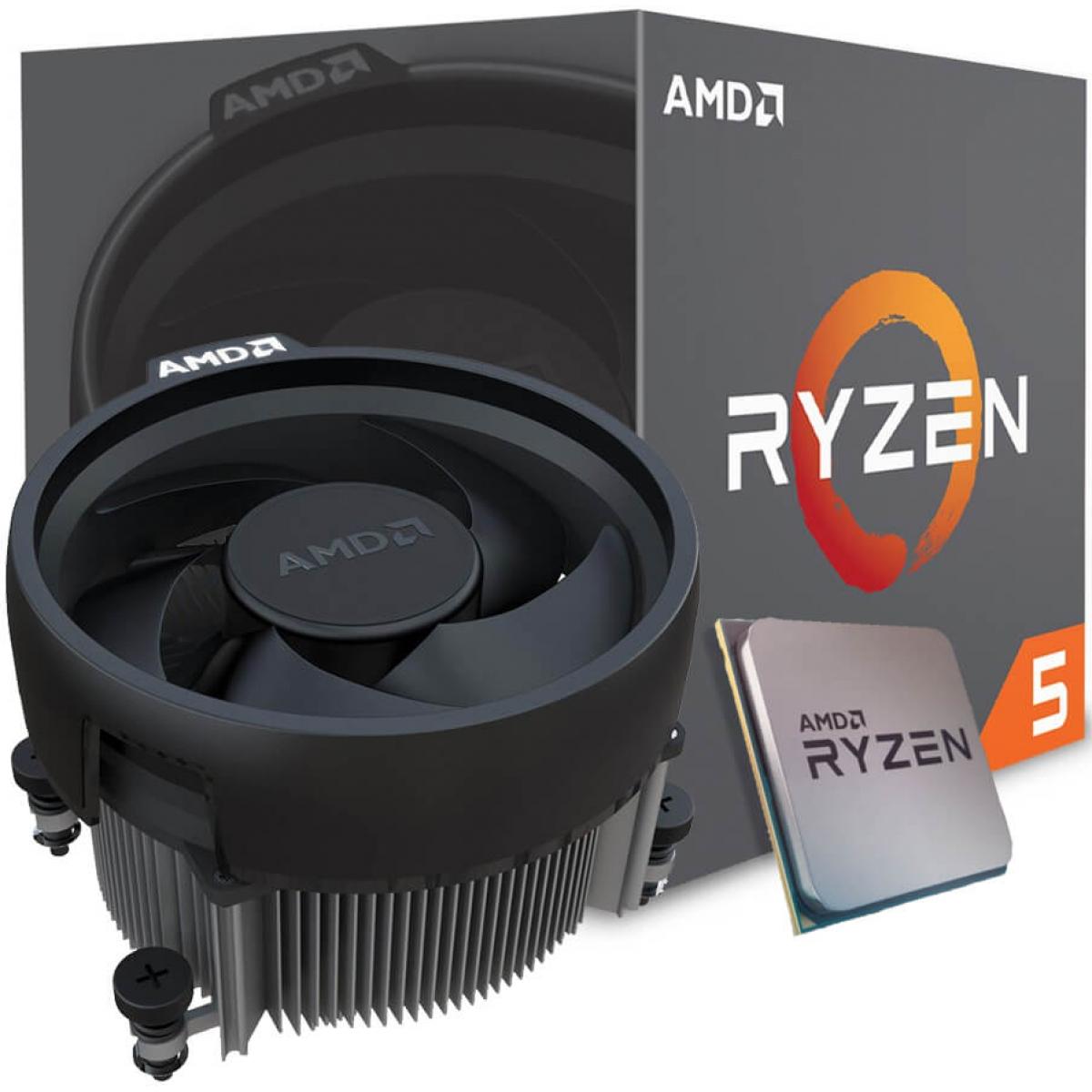 Processador AMD Ryzen 5 2600X 3.6GHz (4.25GHz Turbo), 6-Cores 12-Threads, Cooler Wraith Spire, AM4, YD260XBCAFBOX, S/ Video