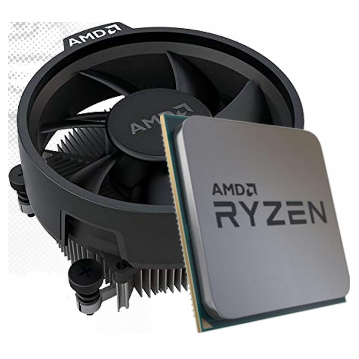 Processador AMD Ryzen 5 3600 3.6GHz (4.2GHz Turbo), 6-Cores 12-Threads, Cooler Wraith Stealth, AM4, 100-10000031MPK, S/ Video