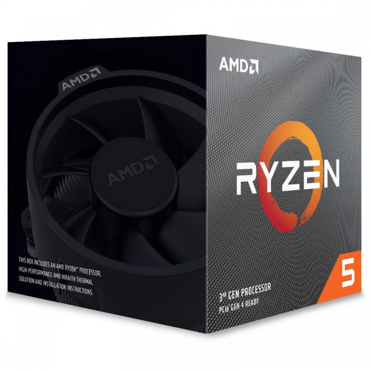 Processador AMD Ryzen 5 3600XT 3.8ghz (4.5ghz Turbo), 6-cores 12-threads, Cooler Wraith Spire, AM4, S/ Video, 100-100000281BOX