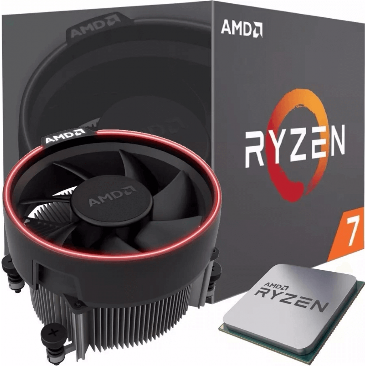 Processador AMD Ryzen 7 1700 3.0GHz (3.7GHz Turbo), 8-Cores 16-Threads, Cooler Wraith Spire com Led, AM4 YD1700BBAEBOX, S/ Video