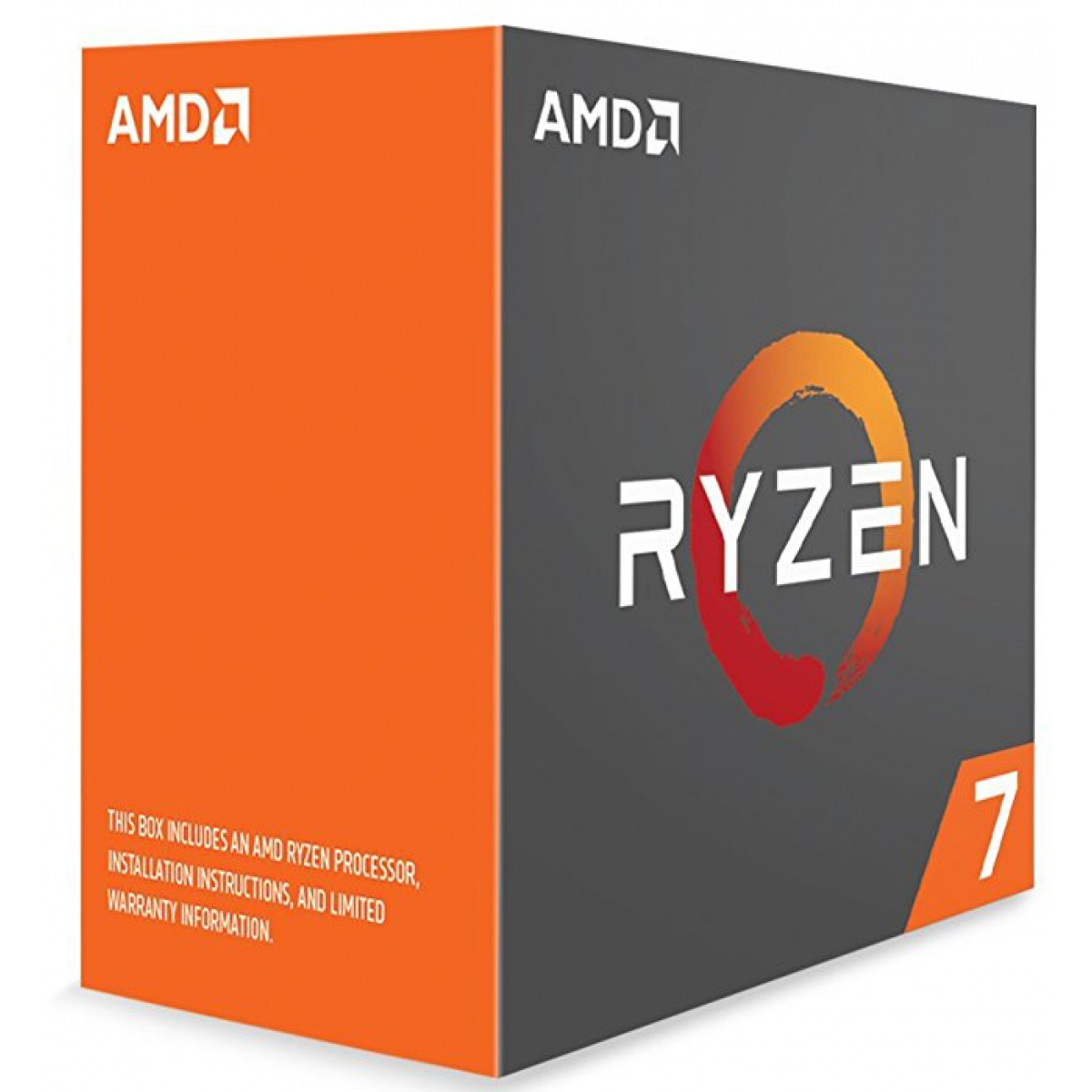 Processador AMD Ryzen 7 1800X 3.6Ghz (4.0GHz Turbo), 8-Core 16-Thread, S/Cooler, AM4, YD180XBCAEWOF, S/ Video