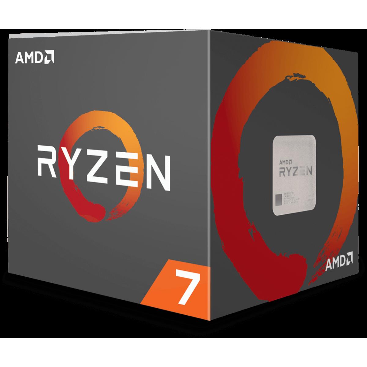 Processador AMD Ryzen 7 2700 3.2GHz / 4.1GHz Max Turbo YD2700BBAFBOX Octa Core 16MB Cooler Wraith Spire com LED, S/ Video
