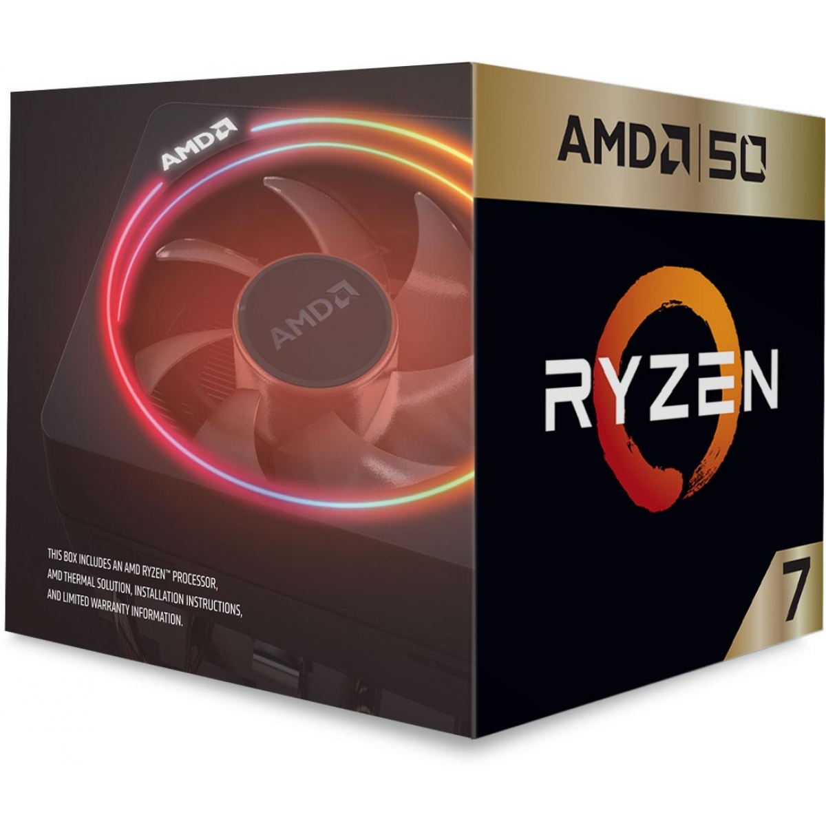 Processador AMD Ryzen 7 2700X Gold Edition 3.7GHz (4.3GHz Turbo), 8-Core 16-Thread, Cooler Wraith Prism RGB, AM4, YD270XBGAFA50