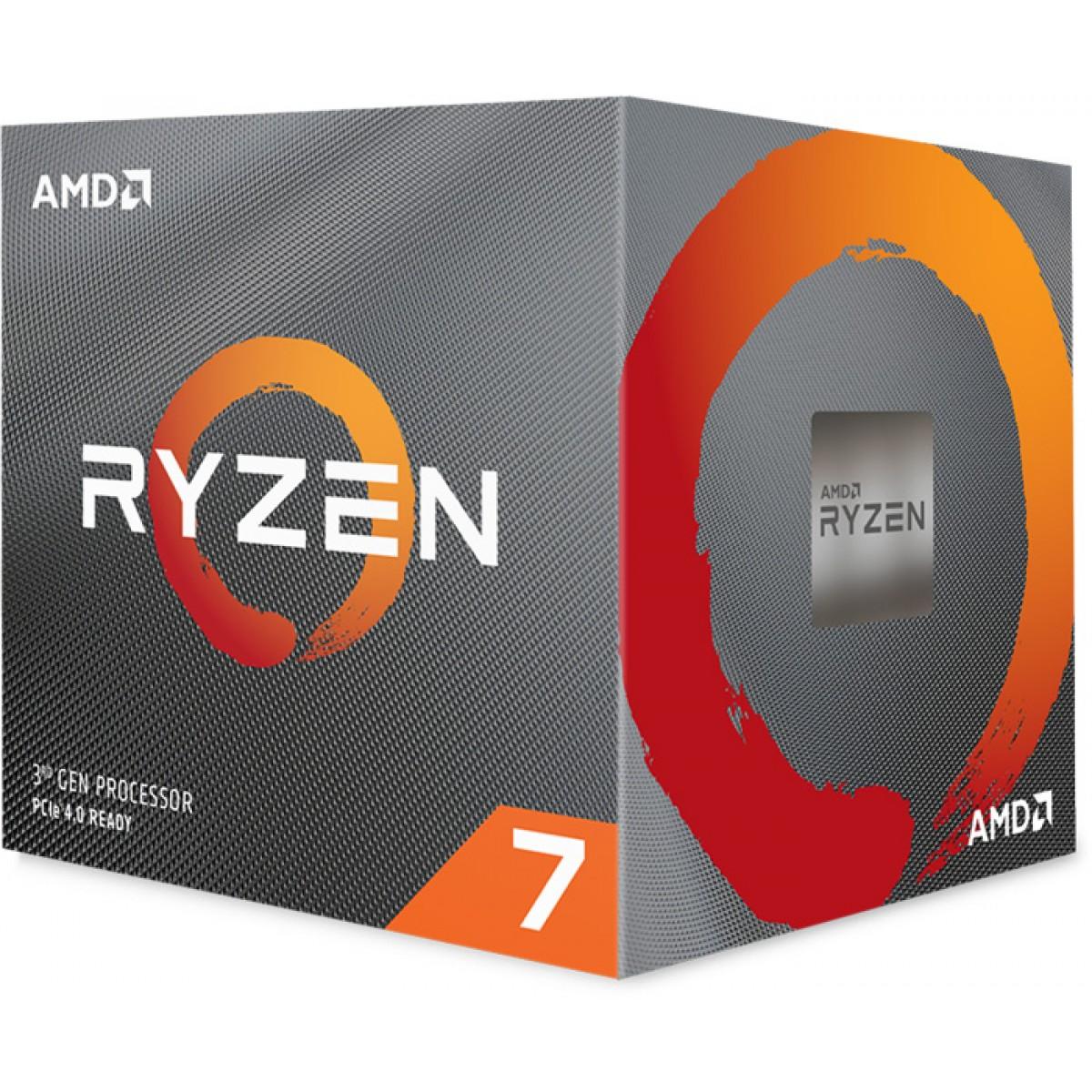 Processador AMD Ryzen 7 3700x 3.6GHz (4.4ghz Turbo), 8-core 16-thread, Cooler Wraith Prism RGB, S/ Video