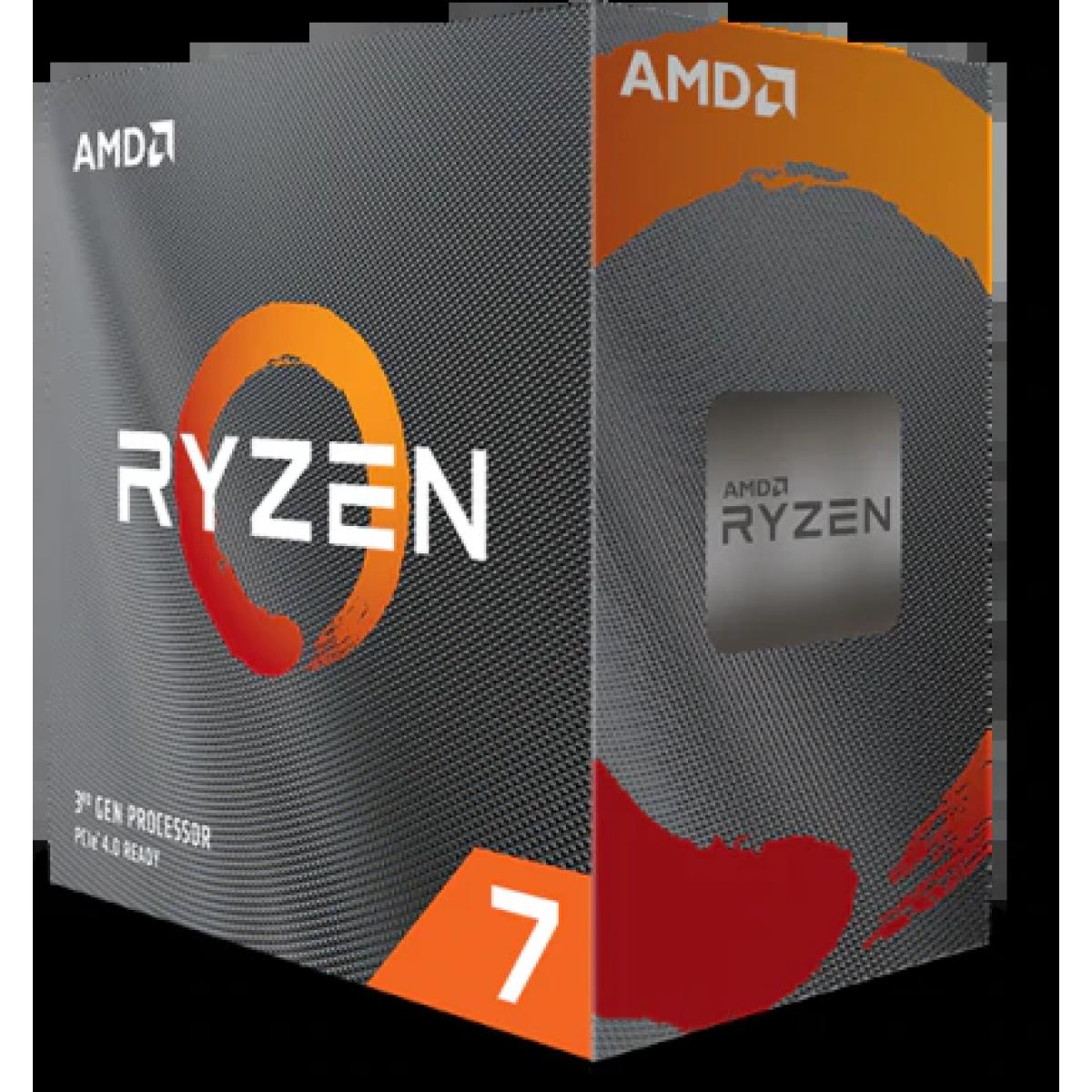 Processador AMD Ryzen 7 3800XT 3.9ghz (4.7ghz Turbo), 8-cores 16-threads, AM4, S/ Video, S/Cooler, 100-100000279WOF