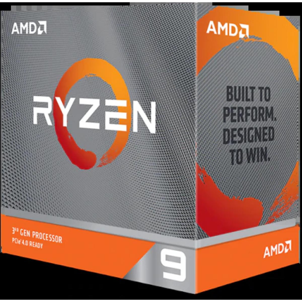 Processador AMD Ryzen 9 3900XT 3.8ghz (4.7ghz Turbo), 12-cores 24-threads, AM4, S/ Video, S/Cooler, 100-100000277WOF