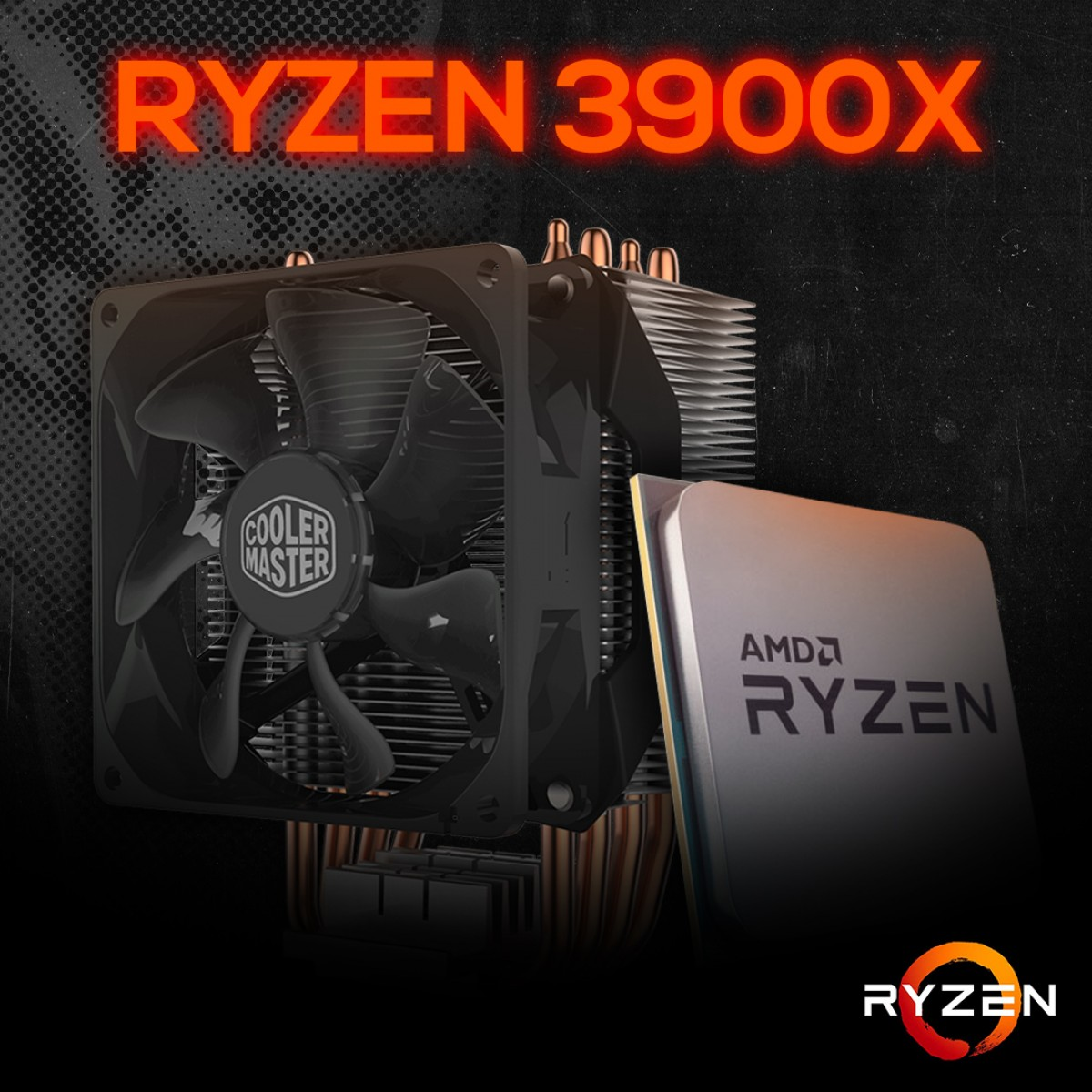 Processador AMD Ryzen 9 3900x 3.8ghz (4.6ghz Turbo), 12-cores 24-threads, + COOLER MASTER HYPER H412R