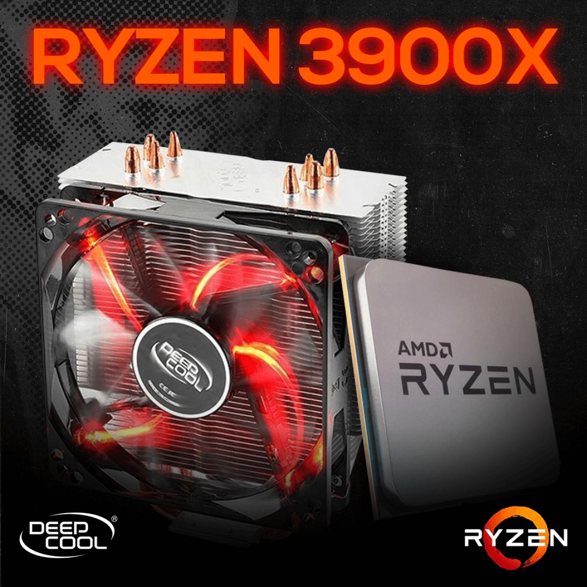 Kit Processador AMD Ryzen 9 3900x 3.8ghz (4.6ghz Turbo), 12-core 24-thread, + Cooler DeepCool Gammaxx 400