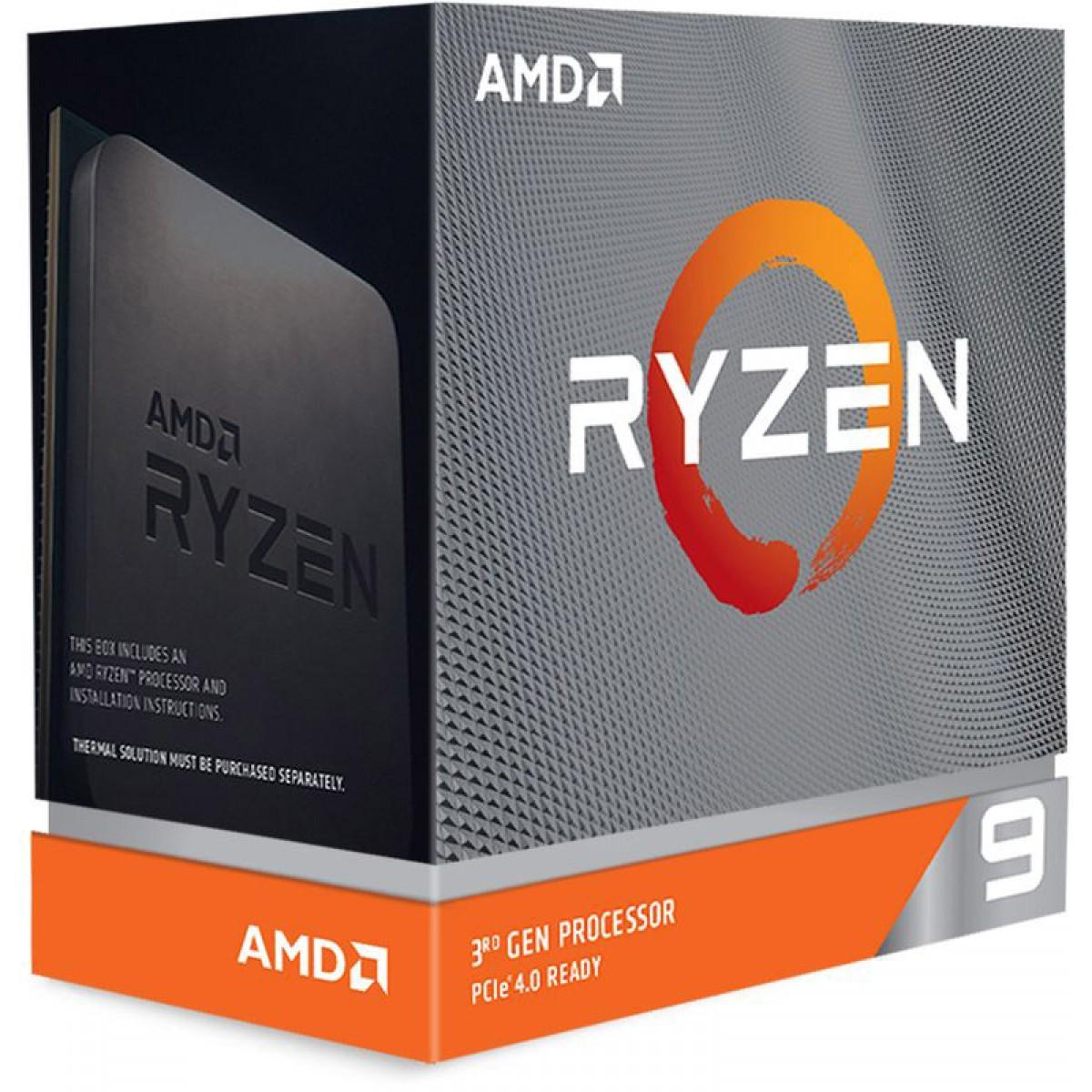 Processador AMD Ryzen 9 3950x 3.5Ghz (4.7ghz Turbo), 16-cores 32-threads, S-Cooler, AM4, S/ Video