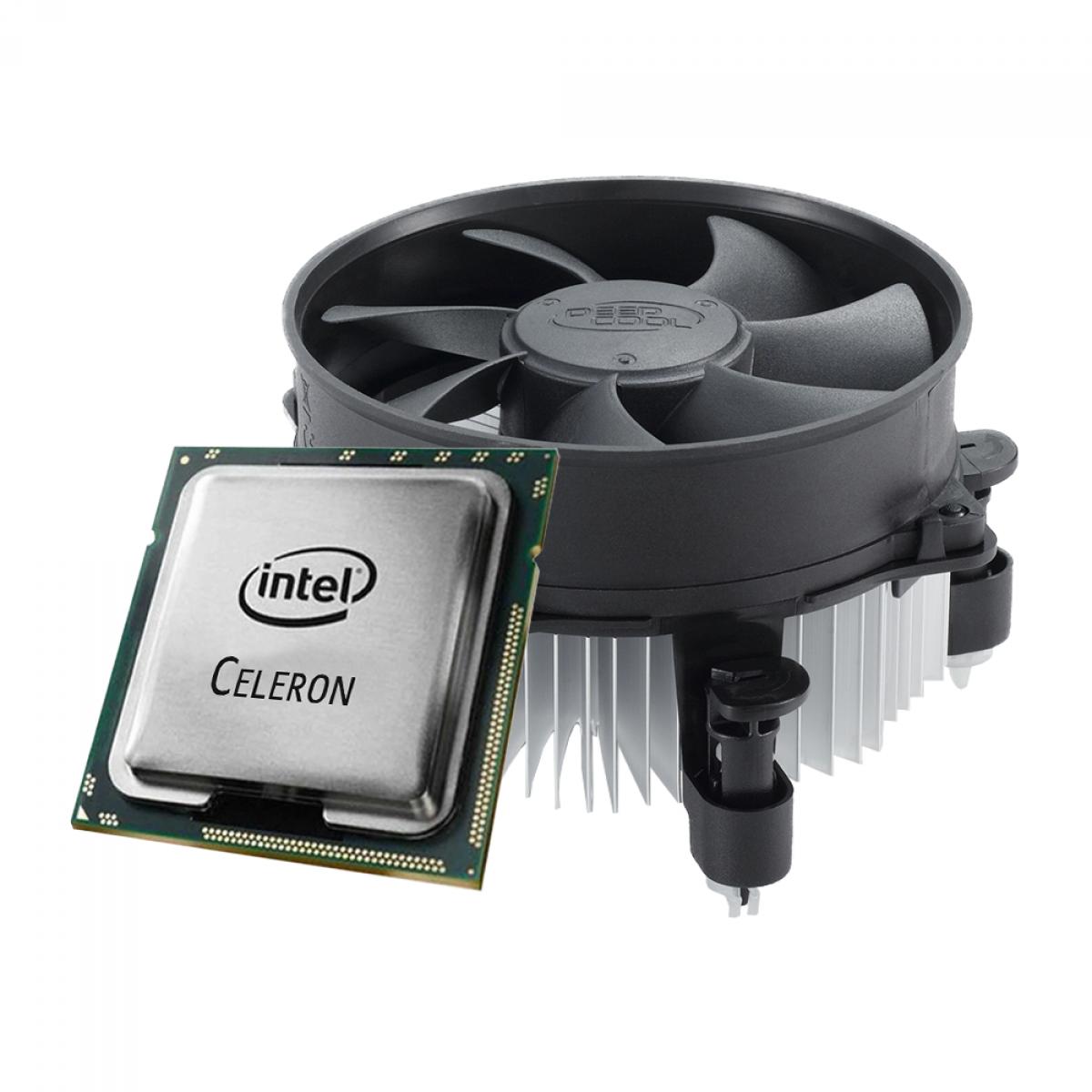 Processador Intel Celeron G4930T 3GHz + Cooler DeepCool Alta 9 92mm