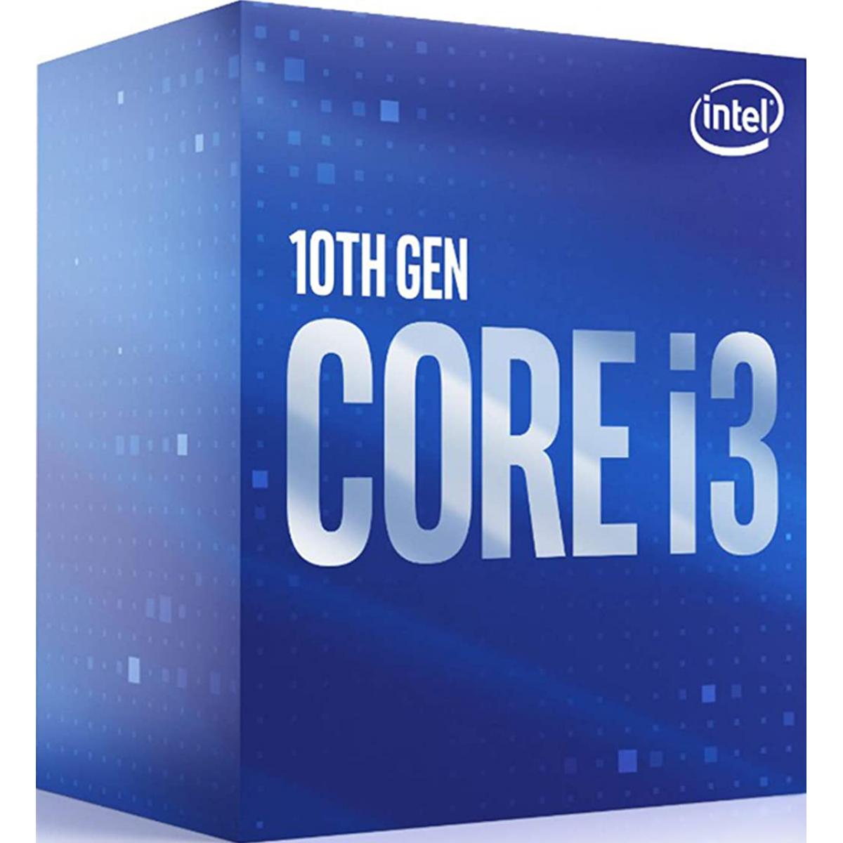 Processador Intel Core i3 10100 3.60GHz (4.30GHz Turbo), 10ª Geração, 4-Cores 8-Threads, LGA 1200, BX8070110100
