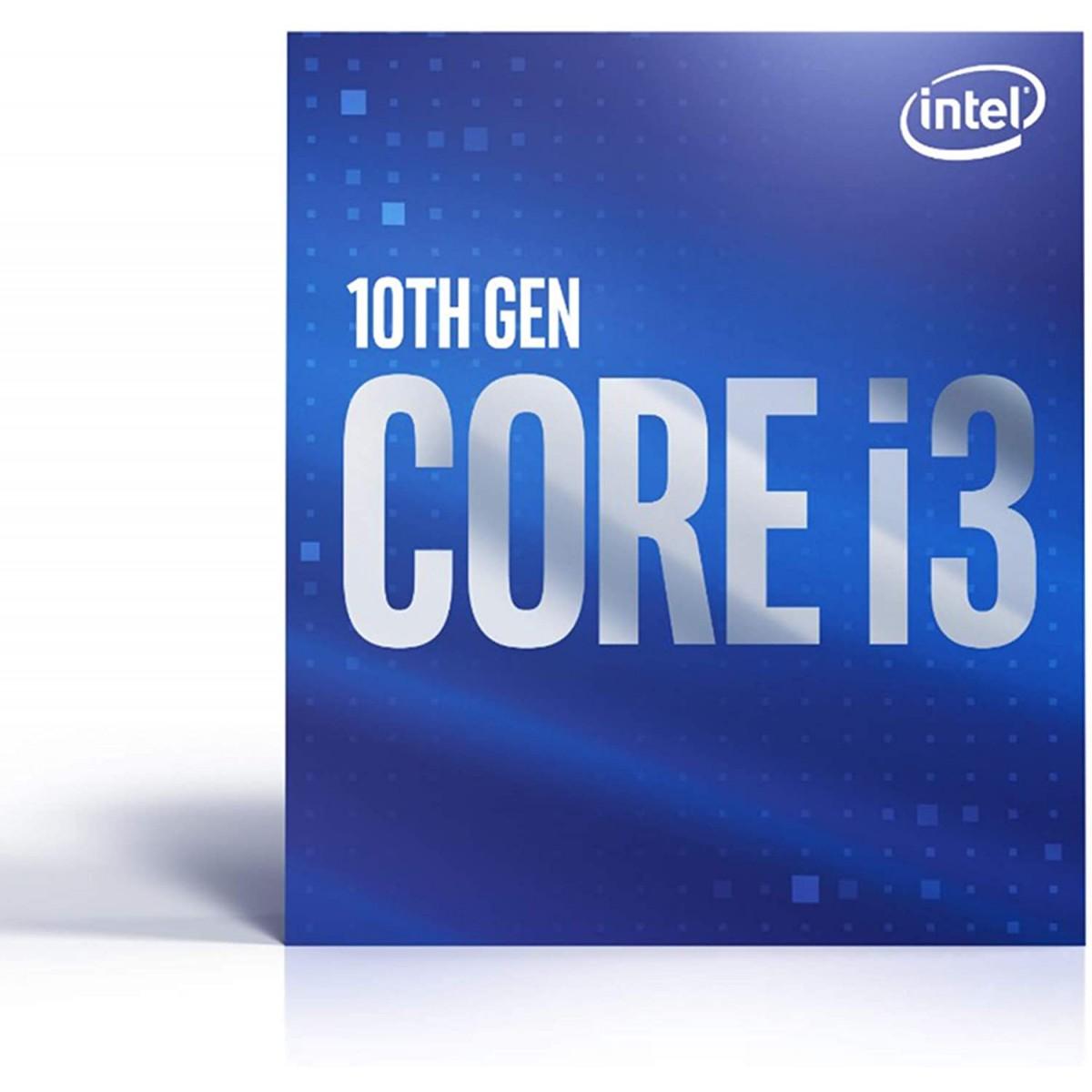 Processador Intel Core i3 10100F 3.60GHz (4.30GHz Turbo), 10ª Geração, 4-Cores 8-Threads, LGA 1200, S/ Vídeo BX8070110100F