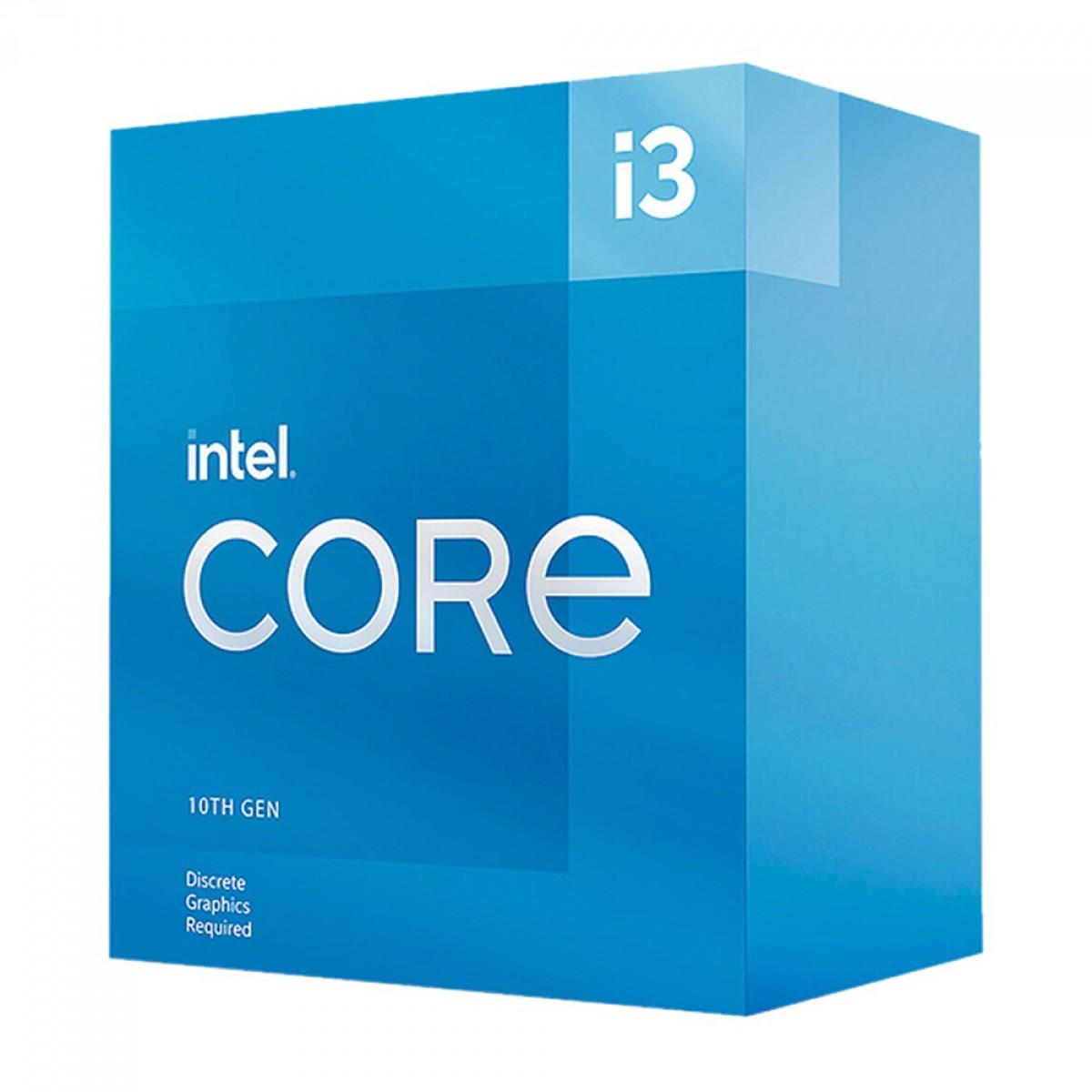 Processador Intel Core i3 10105 3.70GHz (4.40GHz Turbo), 10ª Geração, 4-Cores 8-Threads, LGA 1200, BX8070110105