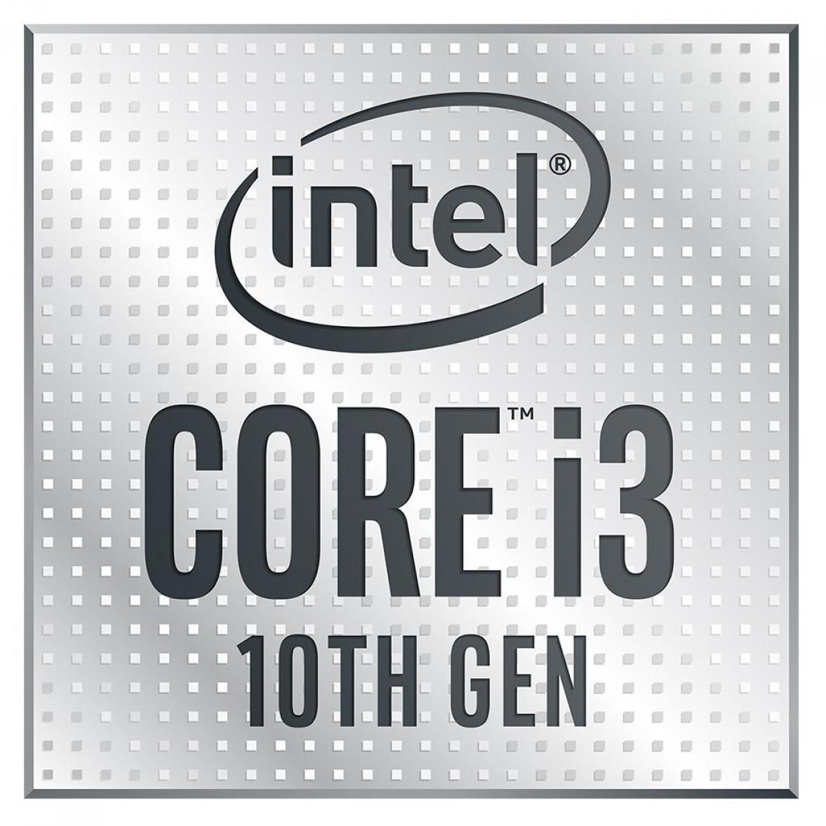 Processador Intel Core i3 10300 3.70GHz (4.40GHz Turbo), 10ª Geração, 4-Cores 8-Threads, LGA 1200, BX8070110300