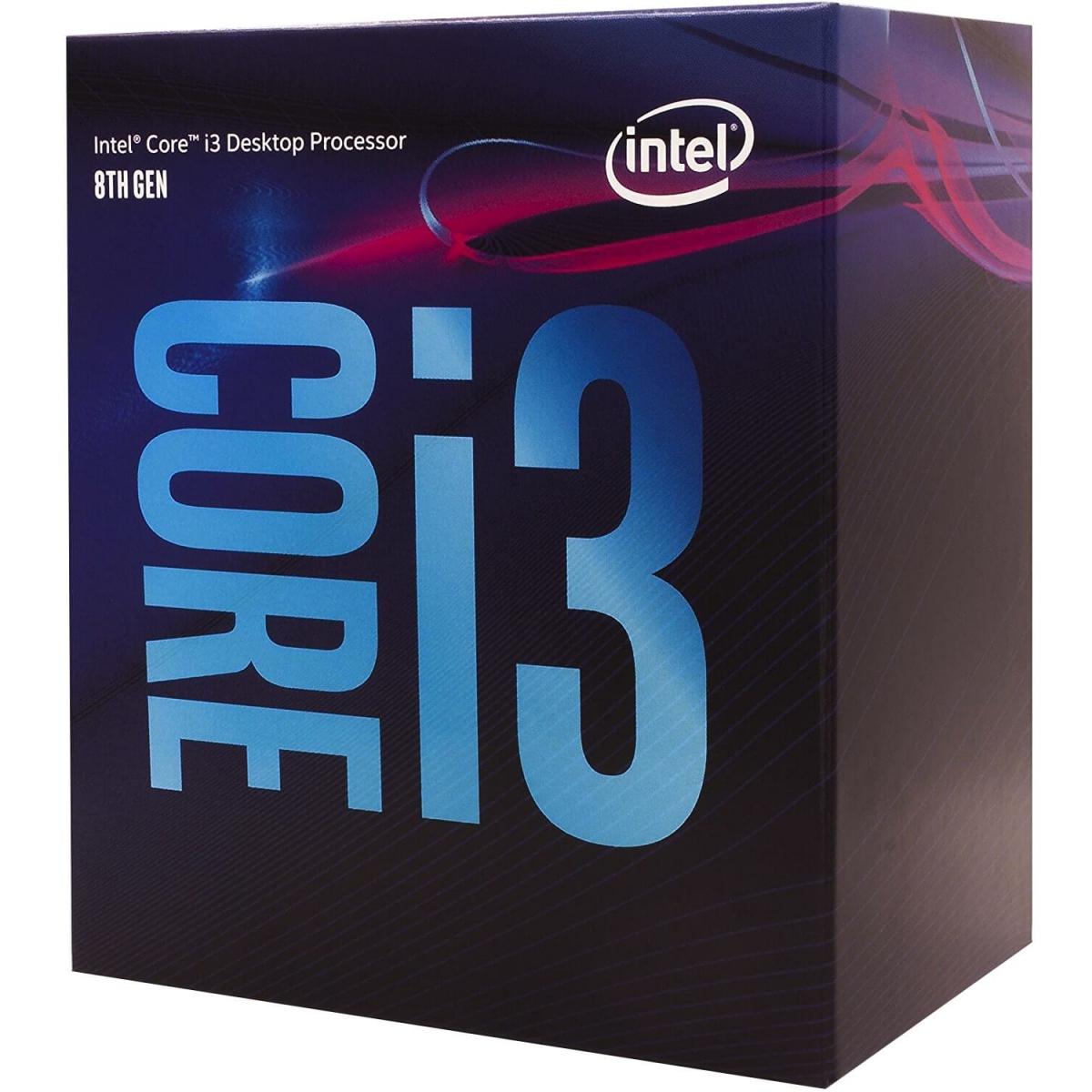 Processador Intel Core i3 8100 3.6GHz, 8ª Geração, 4-Core 4-Thread, LGA 1151, BX80684I38100
